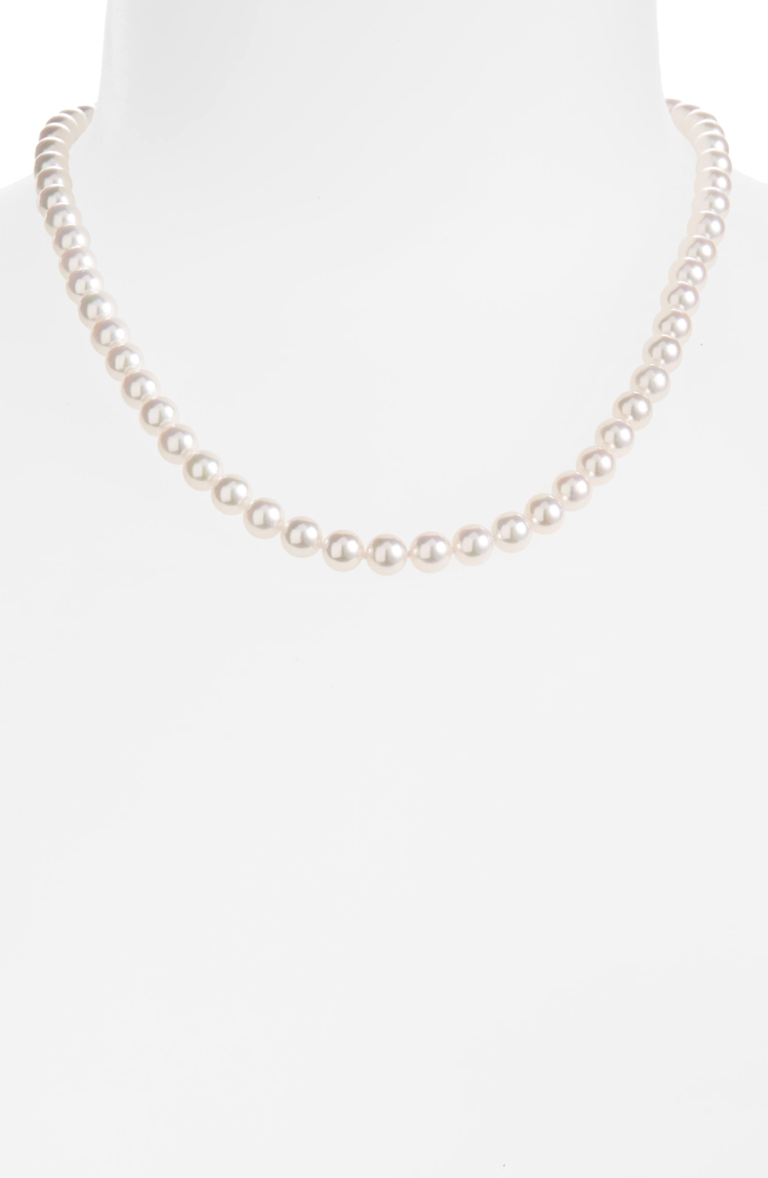 Alternate Image 2  - Mikimoto Cultured Pearl Necklace & Stud Earring Set