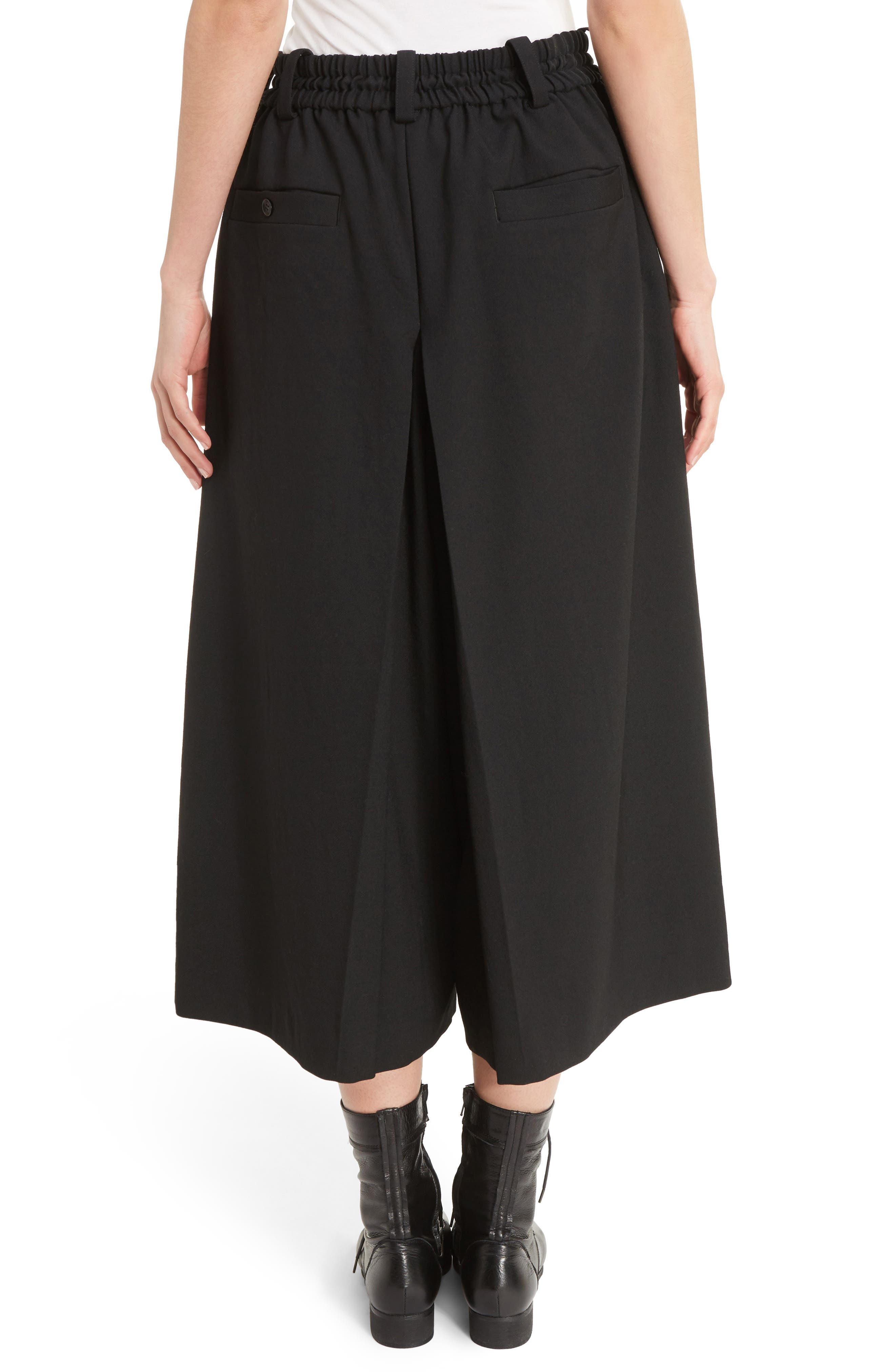 Alternate Image 2  - Y's by Yohji Yamamoto G-Gusset Tuck Front Wide Leg Pants