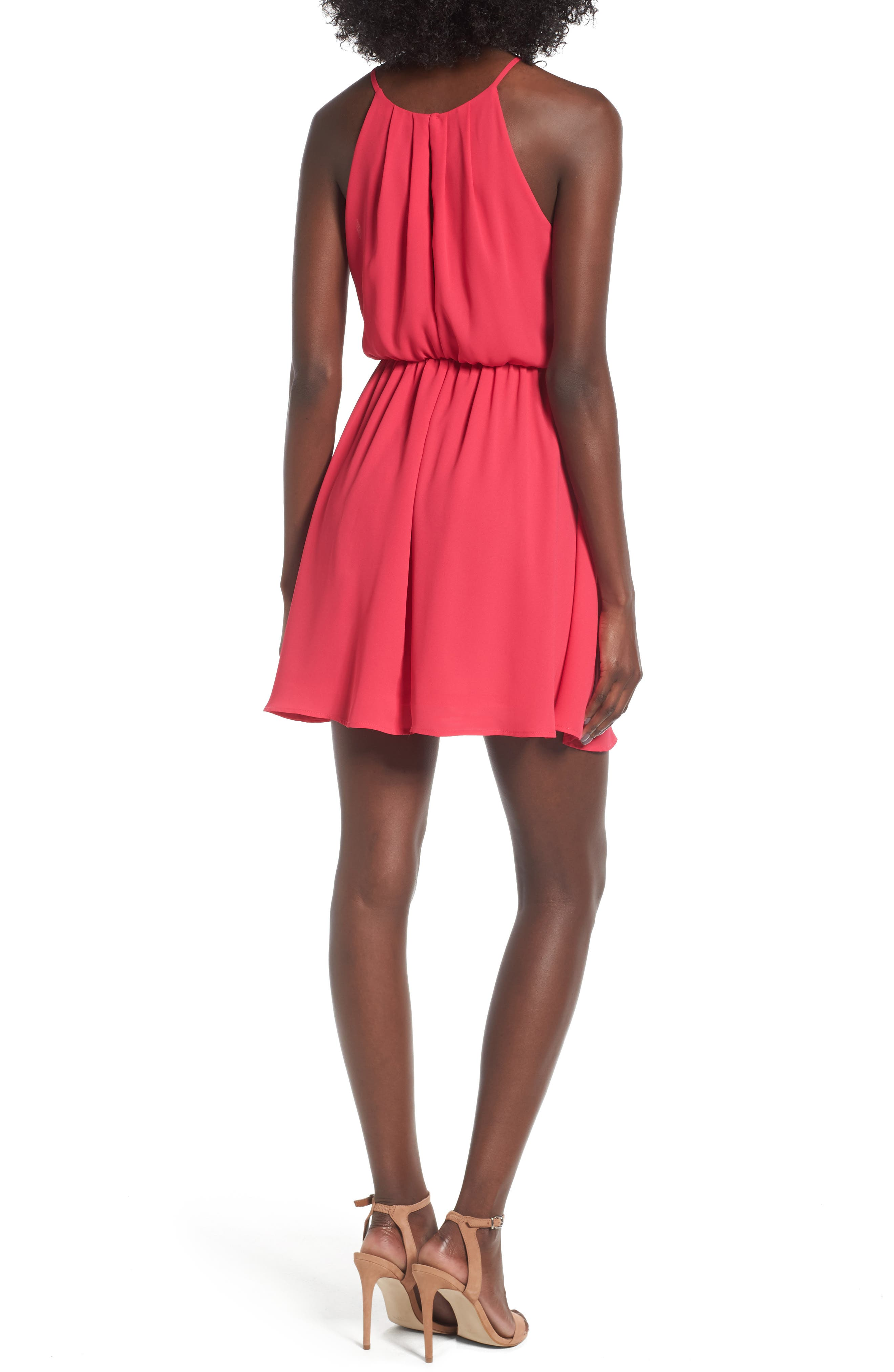 Alternate Image 2  - Blouson Chiffon Skater Dress
