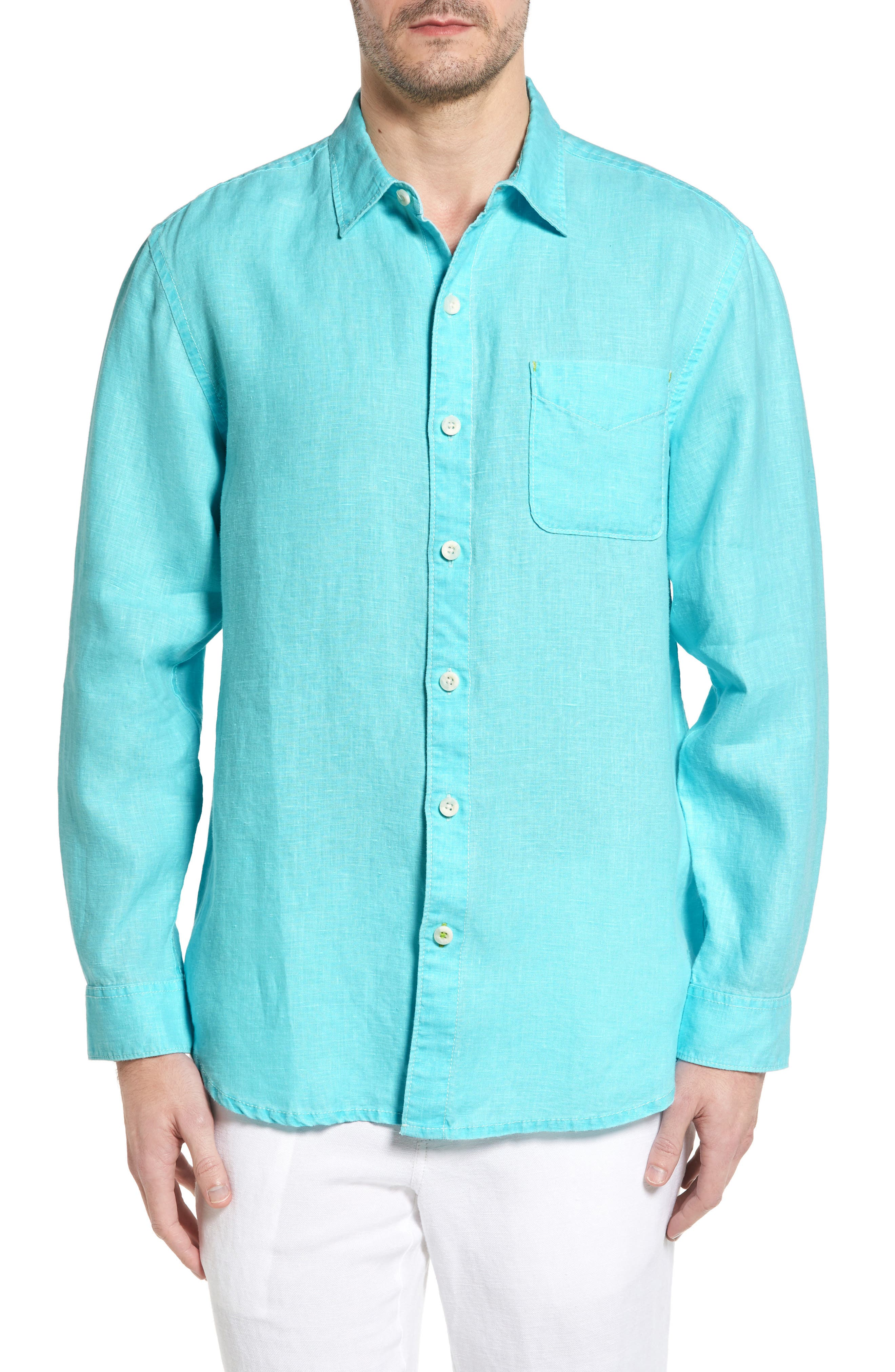 Main Image - Tommy Bahama 'Sea Glass Breezer' Original Fit Linen Shirt