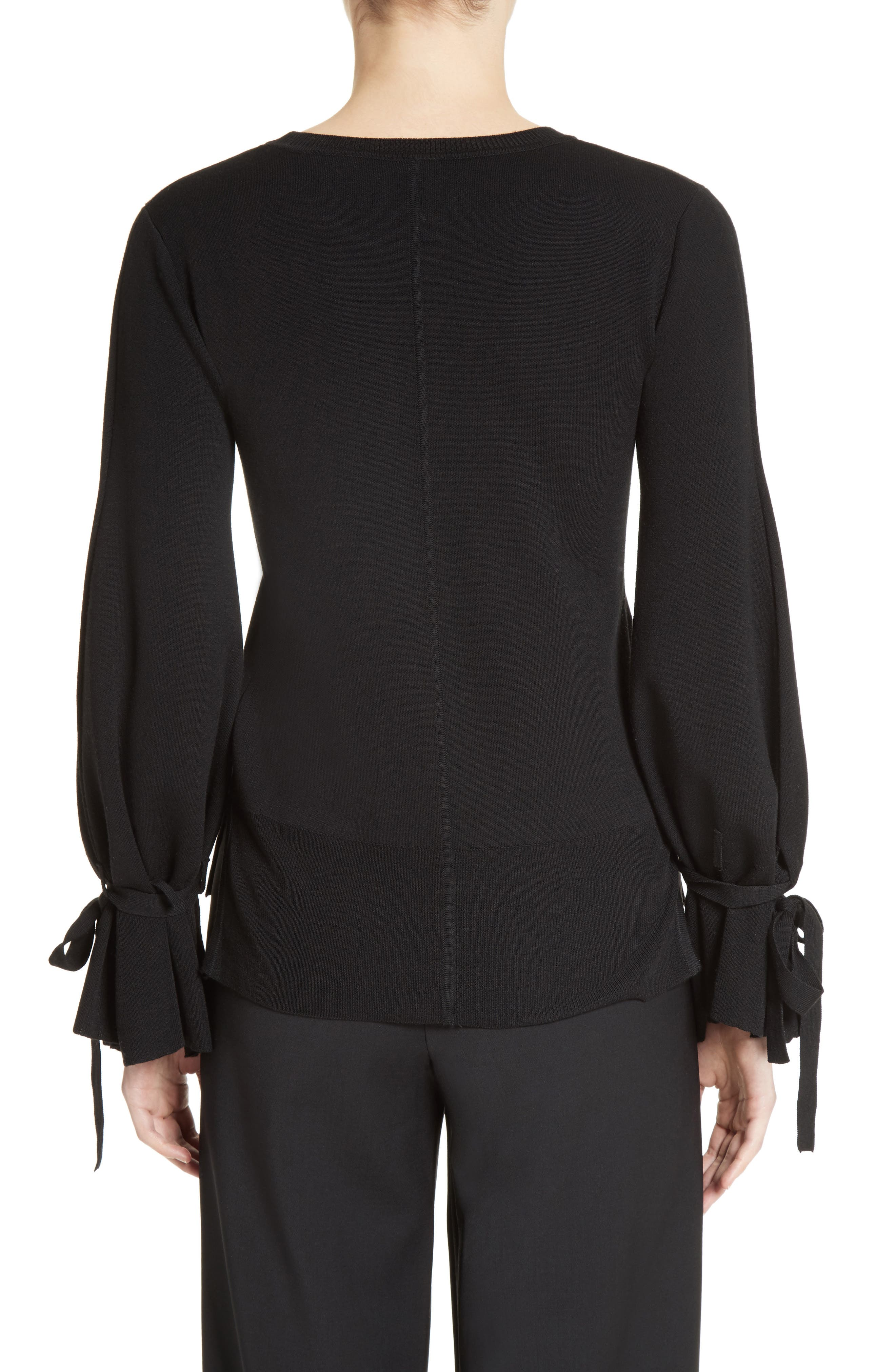 Alternate Image 2  - Adam Lippes Merino Wool Bell Sleeve Sweater
