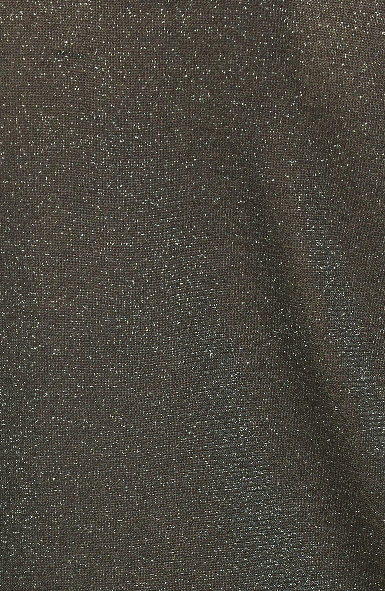 Metallic Knit Polo,                             Alternate thumbnail 3, color,                             Field