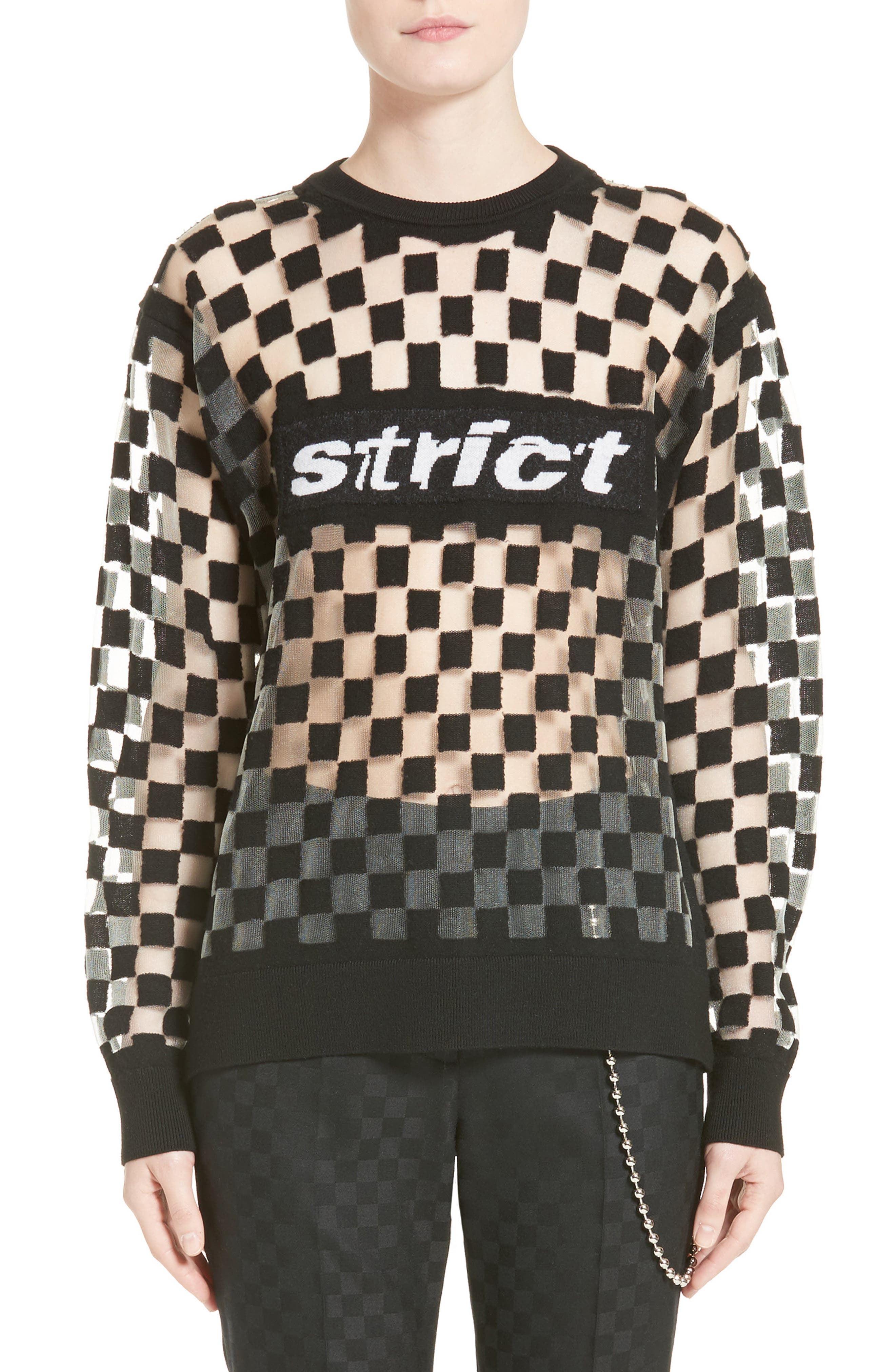 Alternate Image 1 Selected - Alexander Wang Checkerboard Pullover