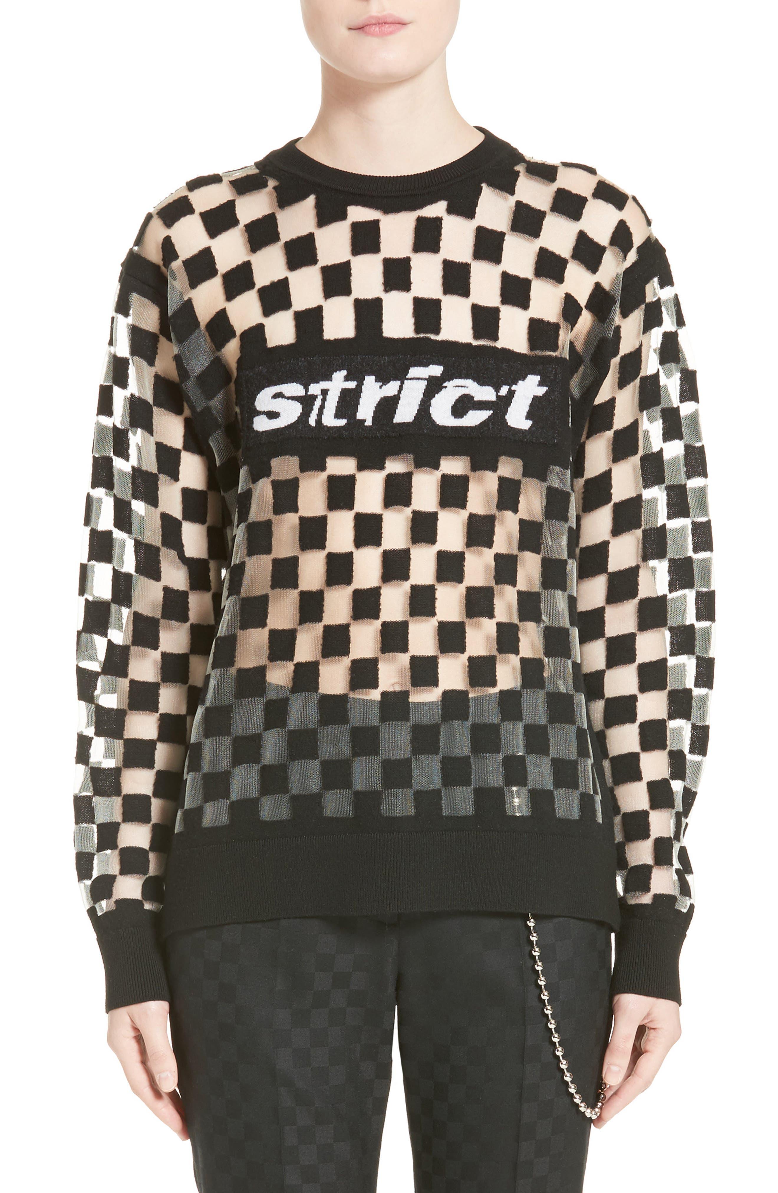 Main Image - Alexander Wang Checkerboard Pullover