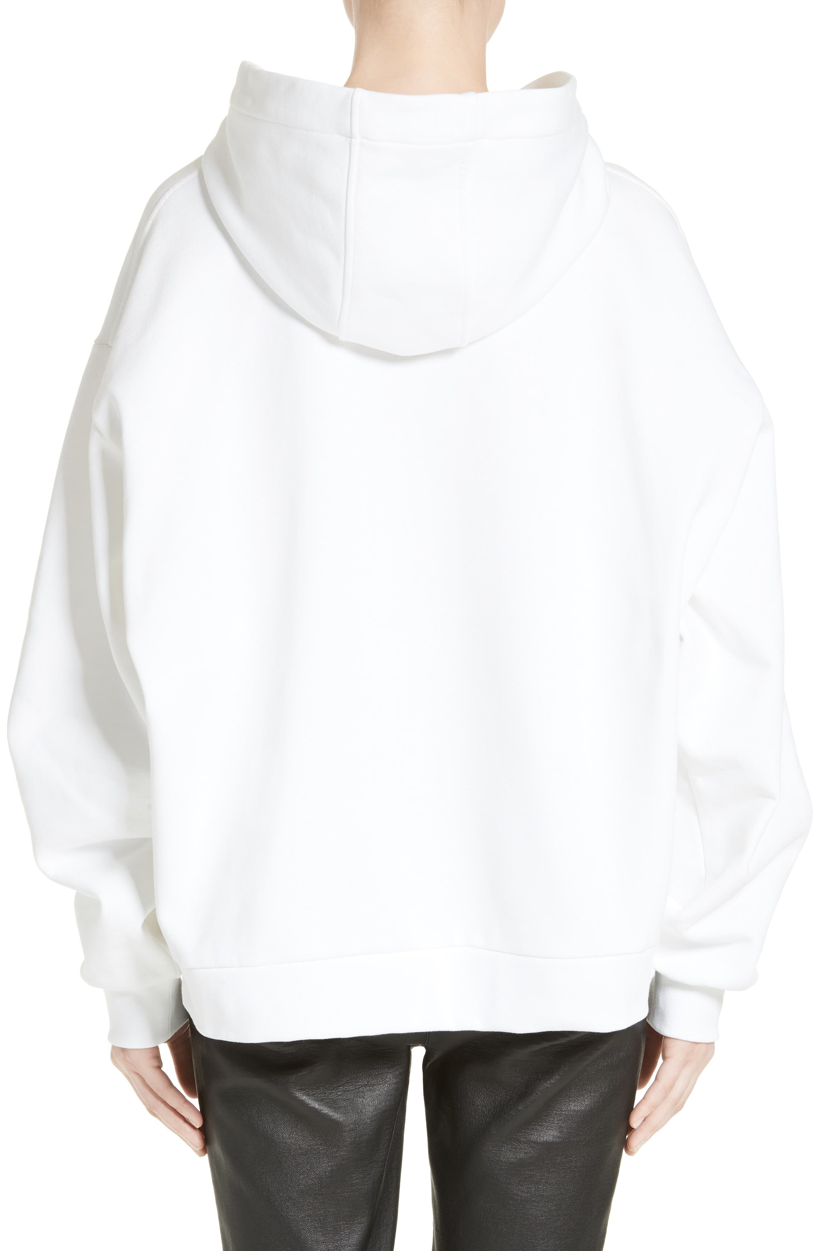 Graphic Hooded Sweatshirt,                             Alternate thumbnail 2, color,                             Eggshell
