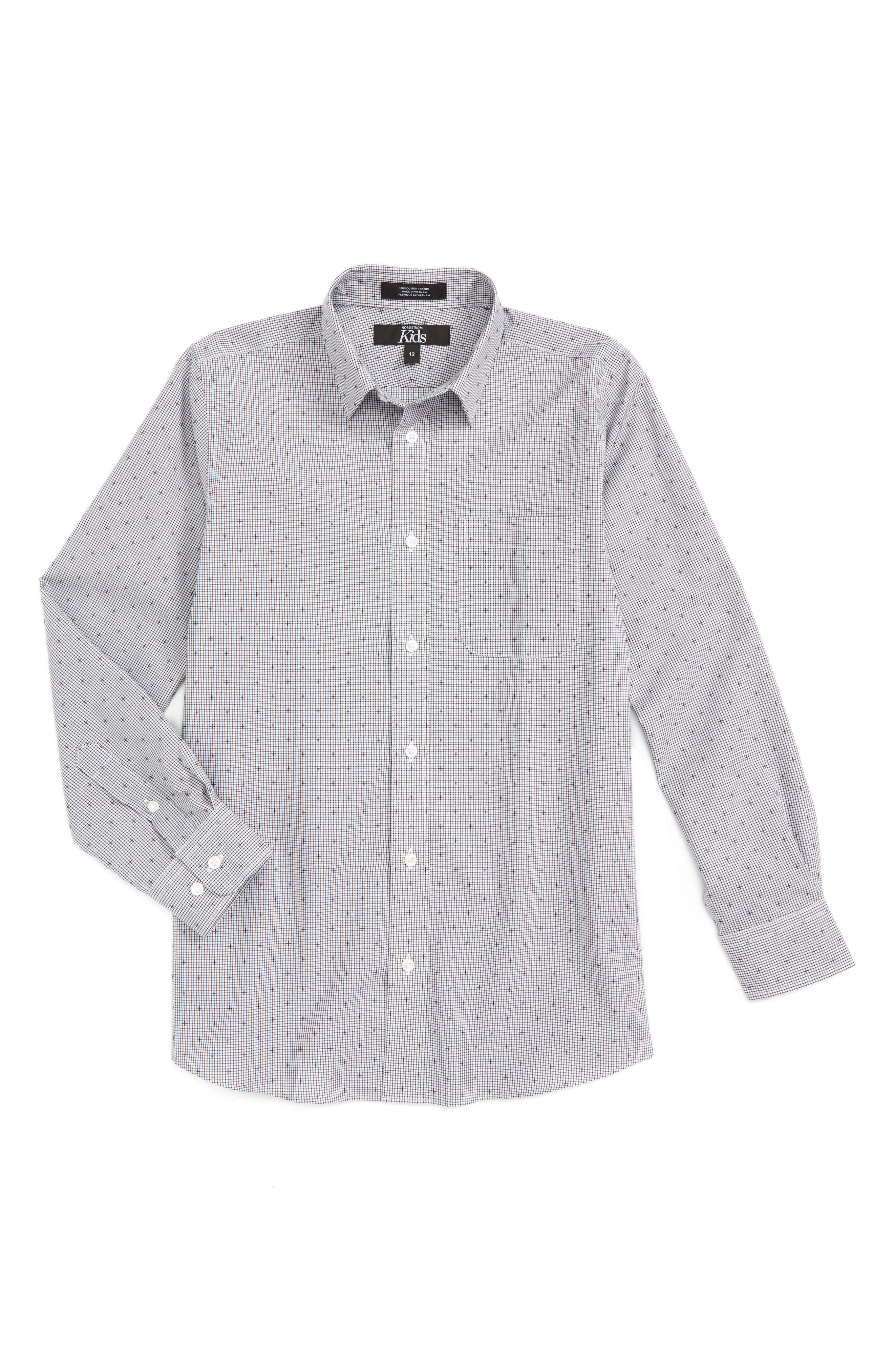 Nordstrom Dobby Dress Shirt (Big Boys)