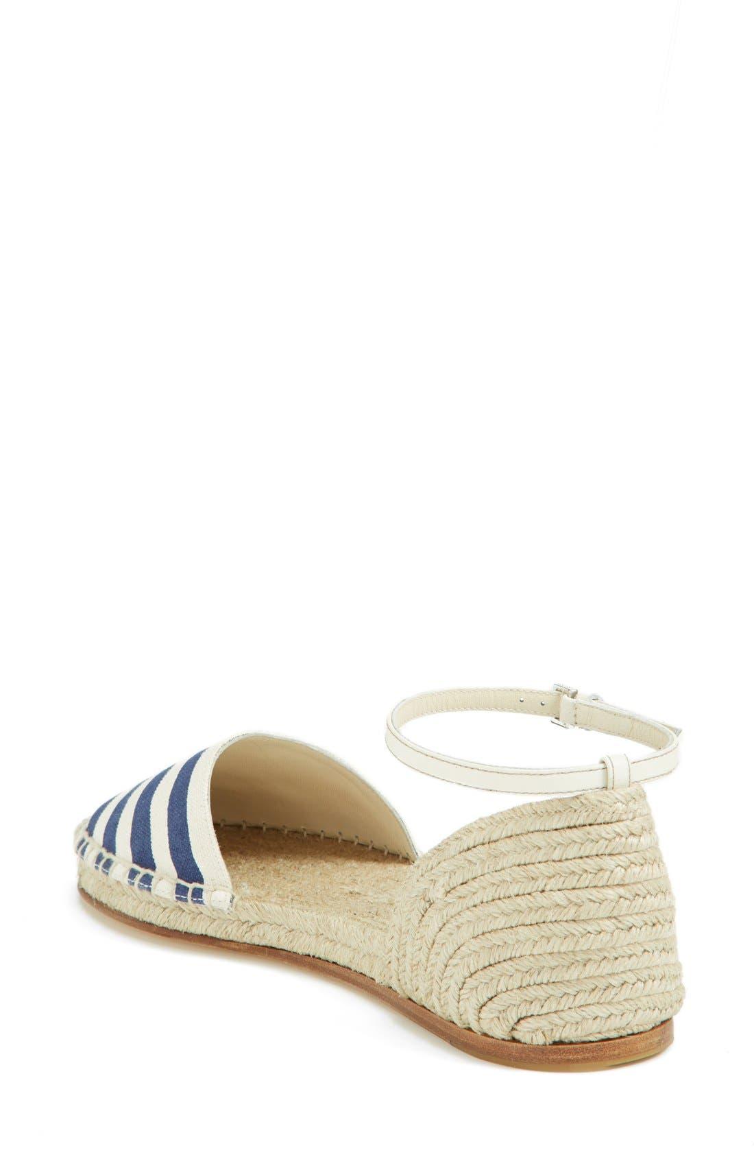 Alternate Image 2  - Gucci 'Veronique' Ankle Strap d'Orsay Espadrille Flat (Women)
