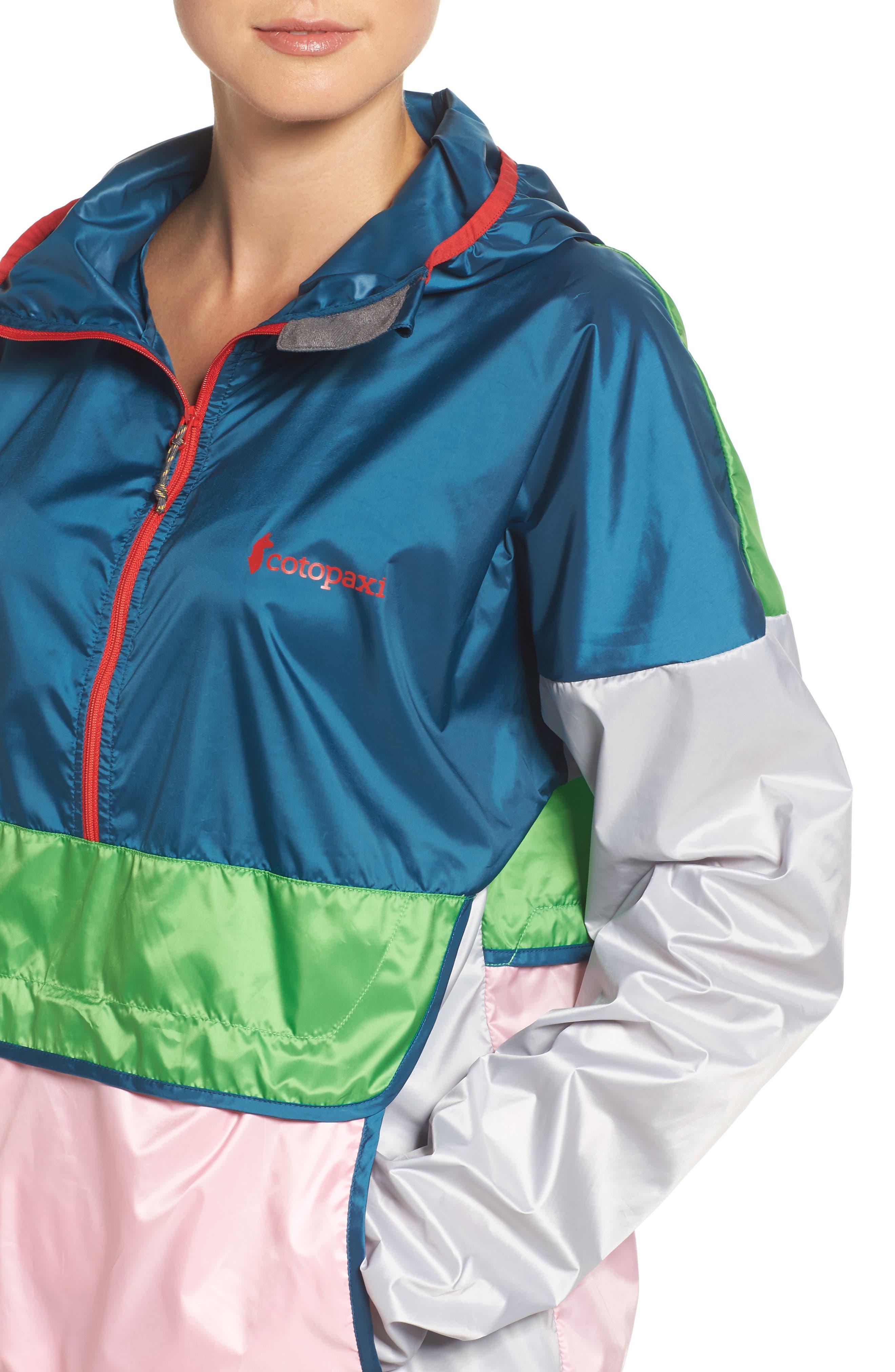Teca Packable Water Resistant Windbreaker Jacket,                             Alternate thumbnail 4, color,                             Freshy Fresh