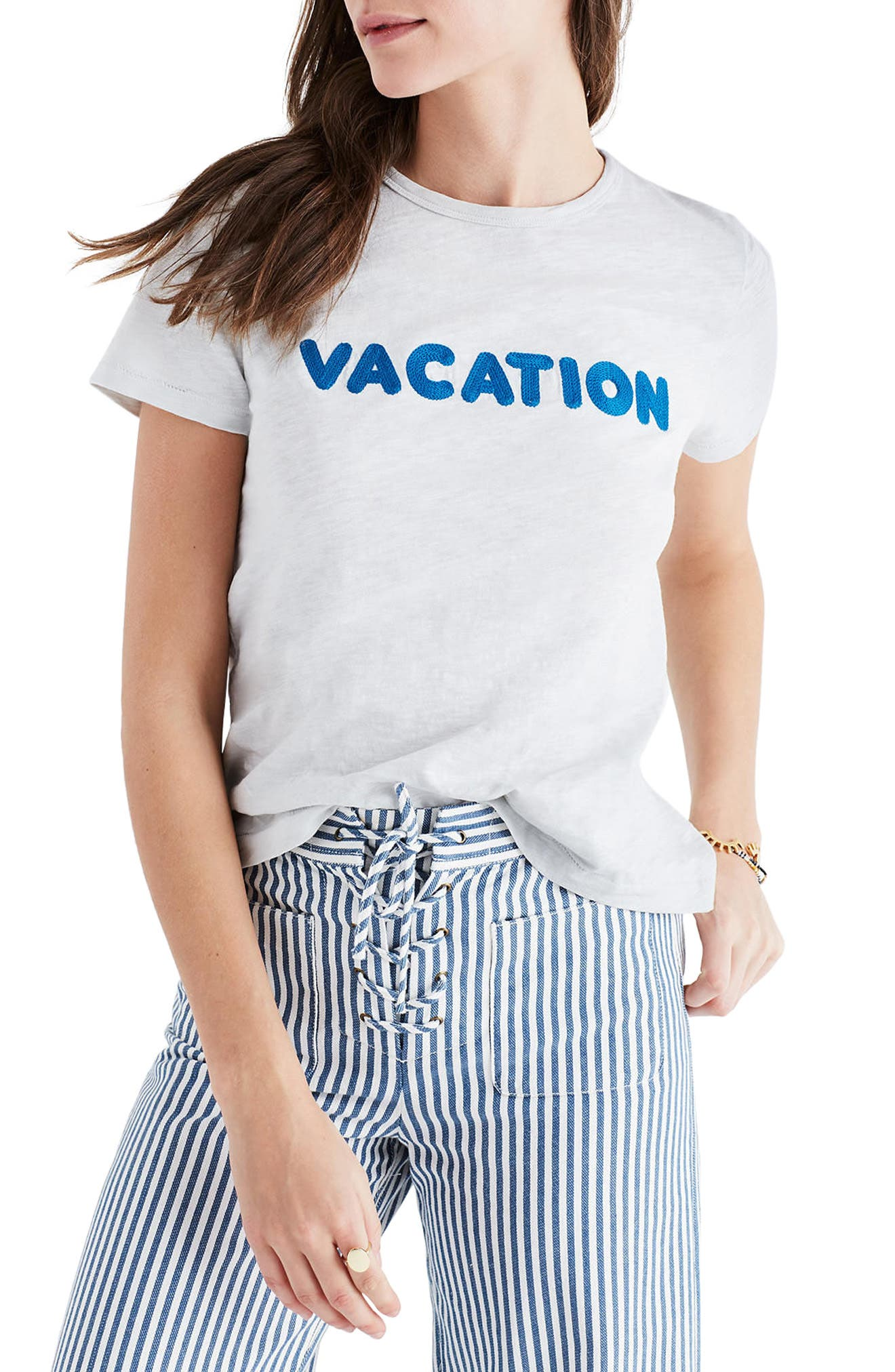 Alternate Image 1 Selected - Madewell Vacation Embroidered Tee