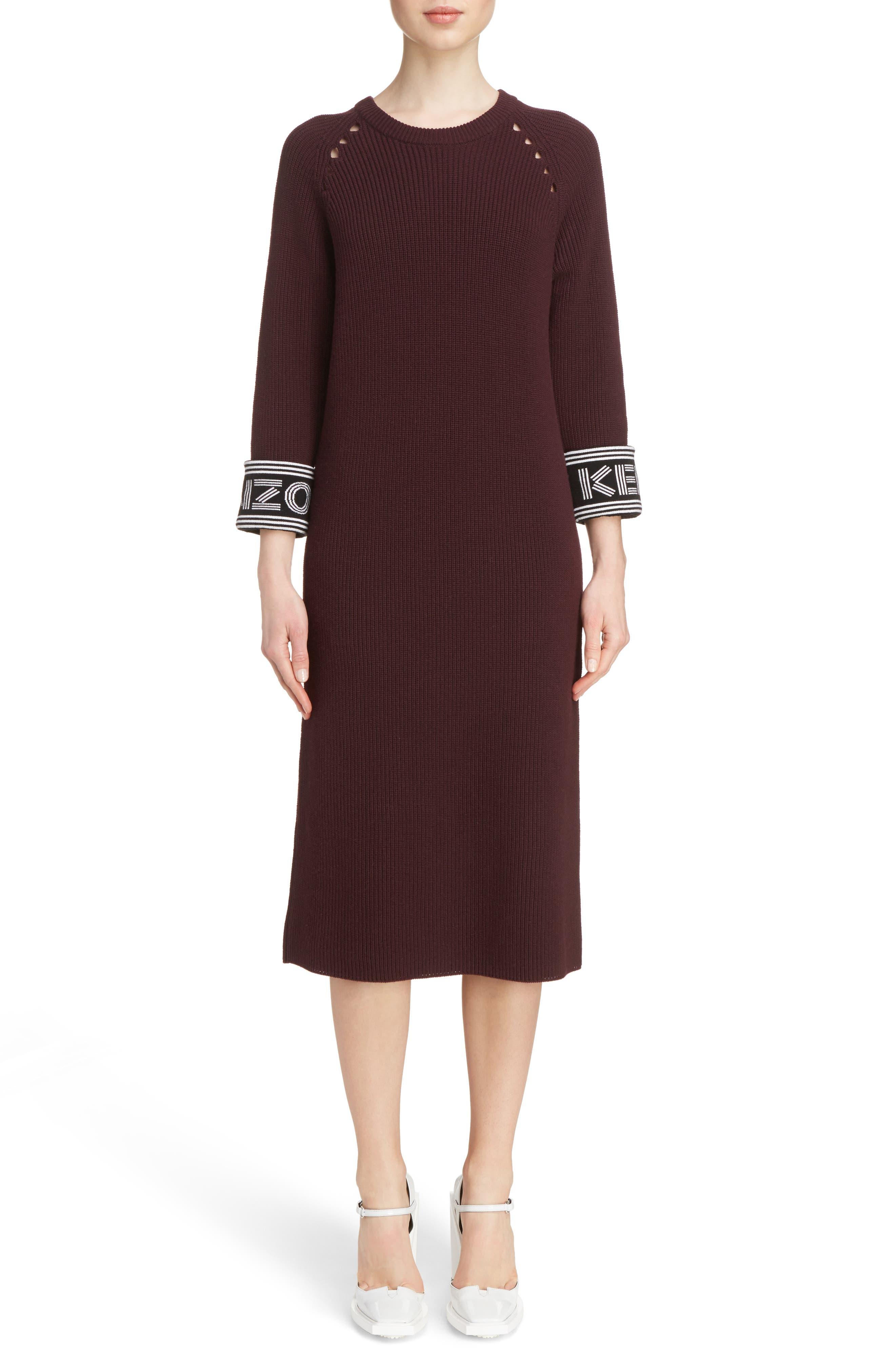 Alternate Image 1 Selected - KENZO Sport Knit Midi Dress