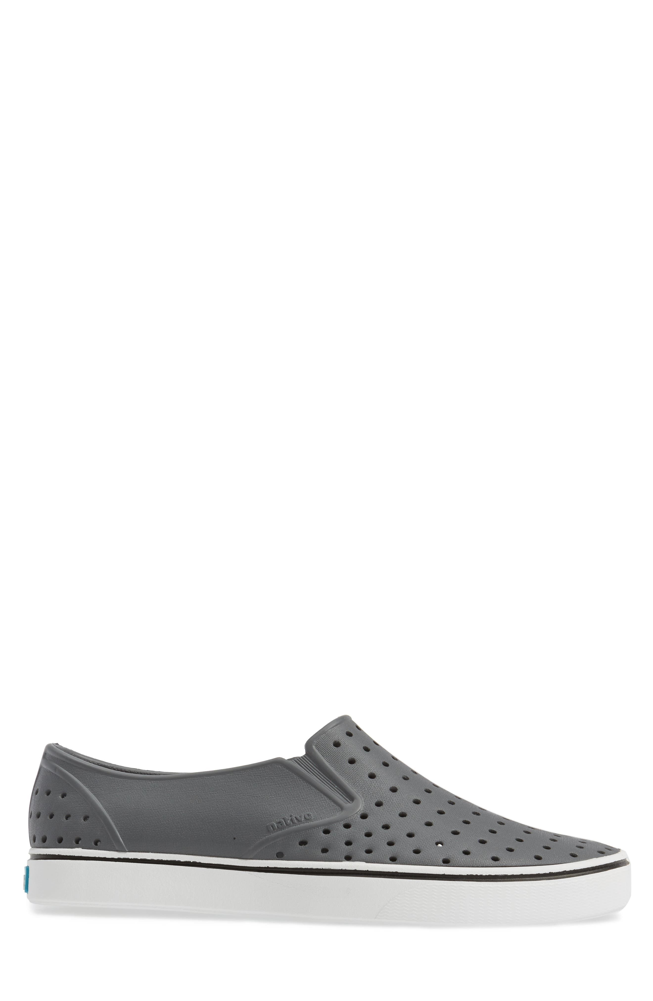 Miles Water Friendly Perforated Slip-On,                             Alternate thumbnail 3, color,                             Grey/ White