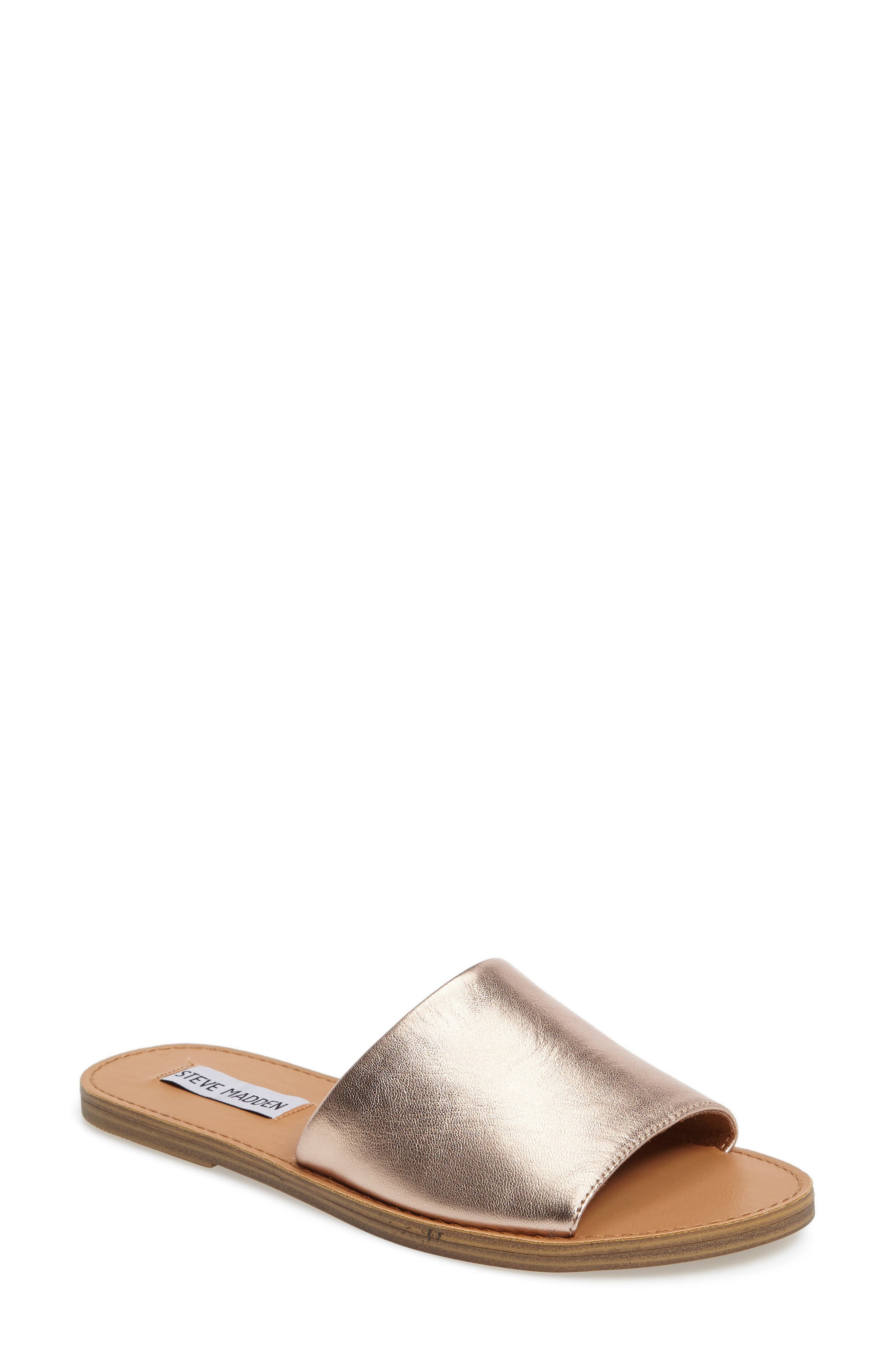 Grace Slide Sandal,                         Main,                         color, Rosegold