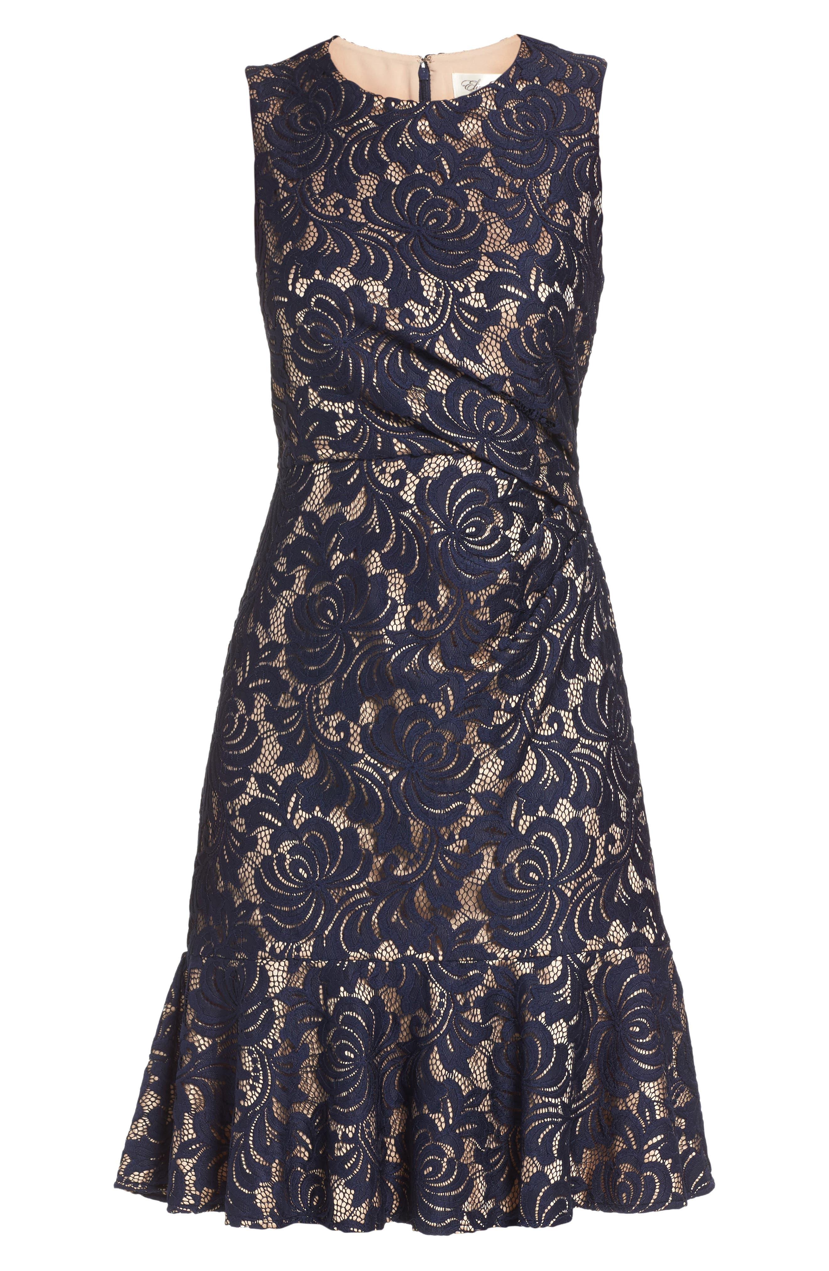 Alternate Image 6  - Eliza J Lace Midi Dress