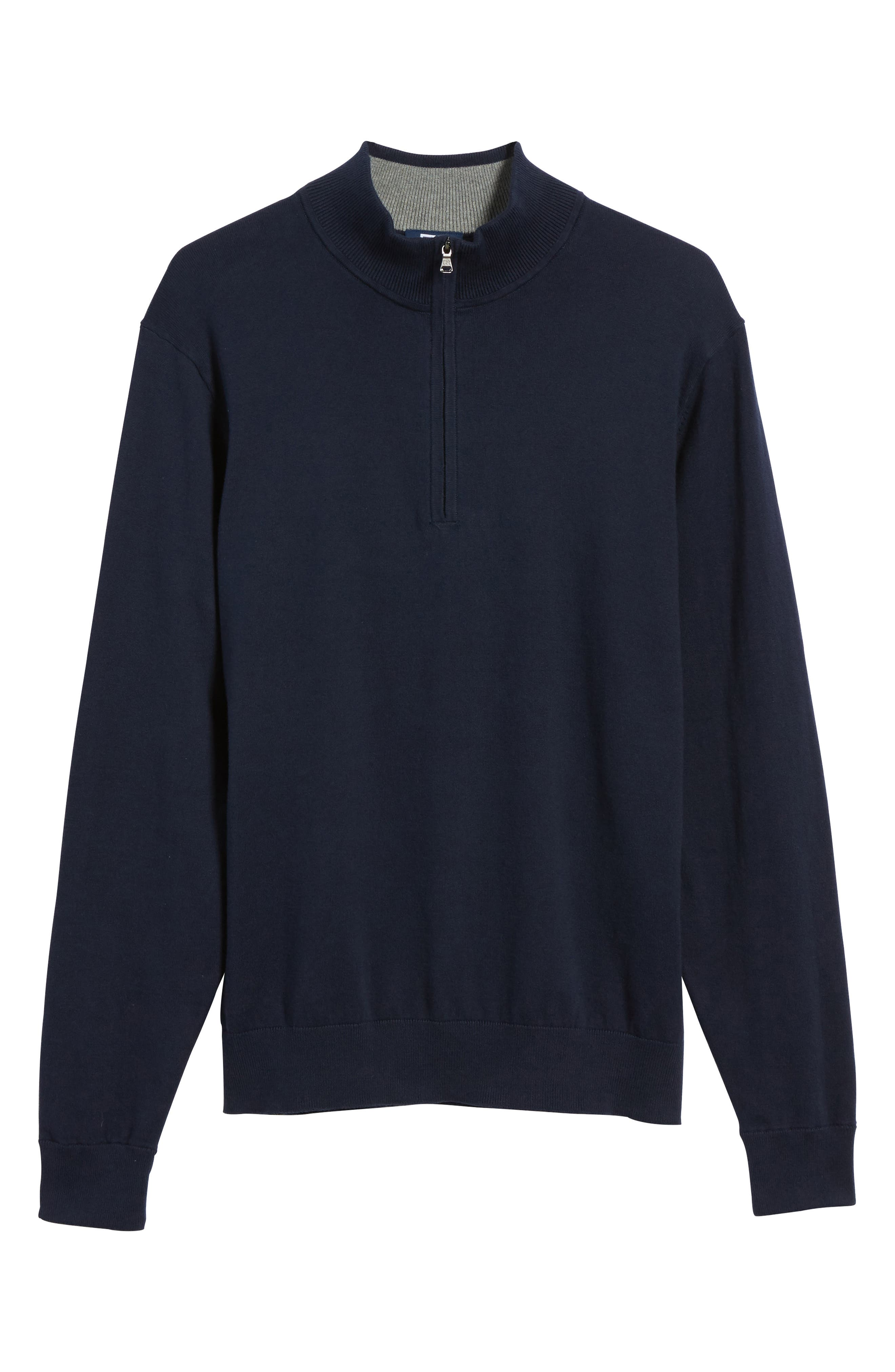 Lakemont Half Zip Sweater,                             Alternate thumbnail 6, color,                             Liberty Navy