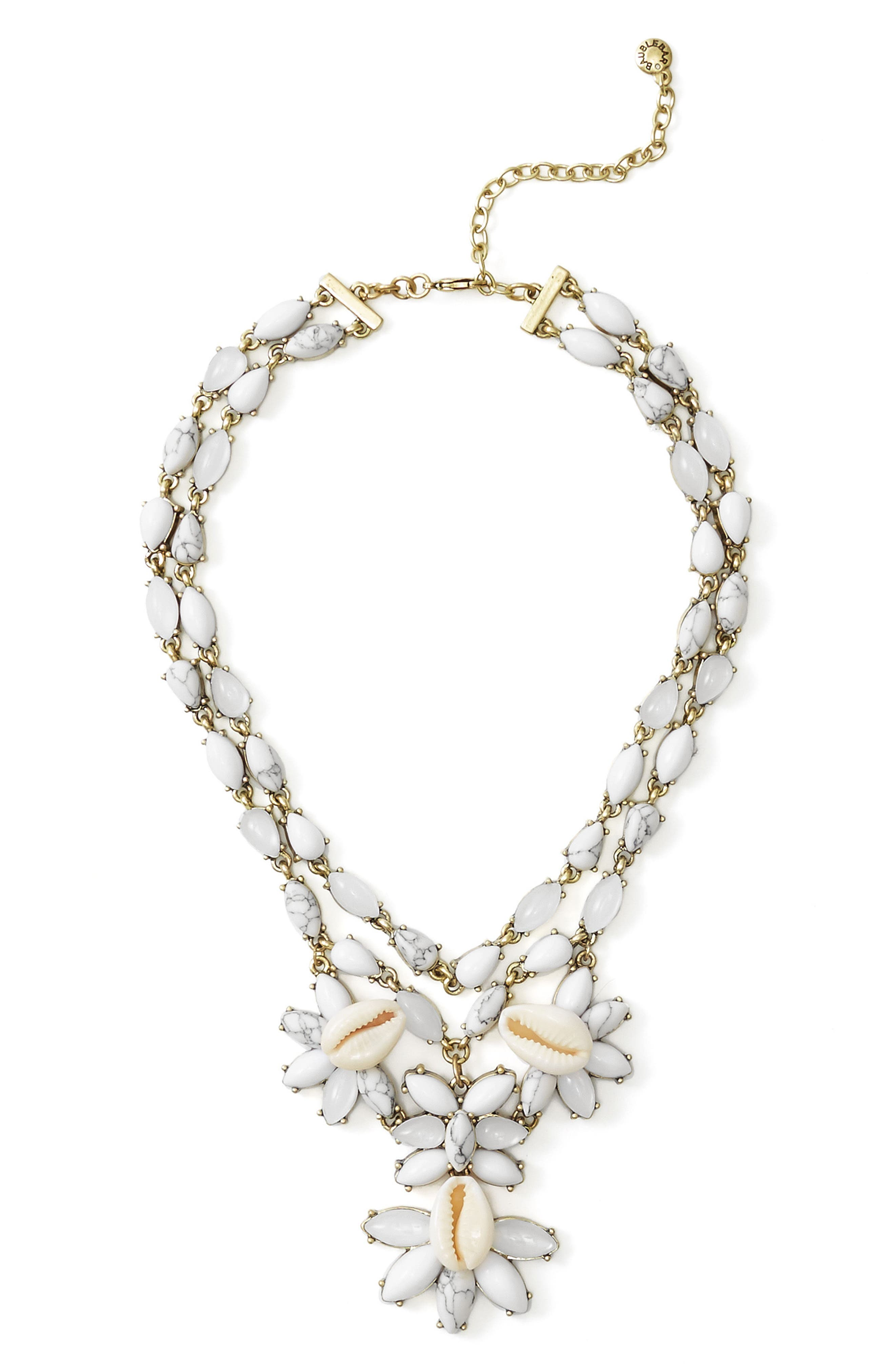 BaubleBar Malana Shell Statement Necklace