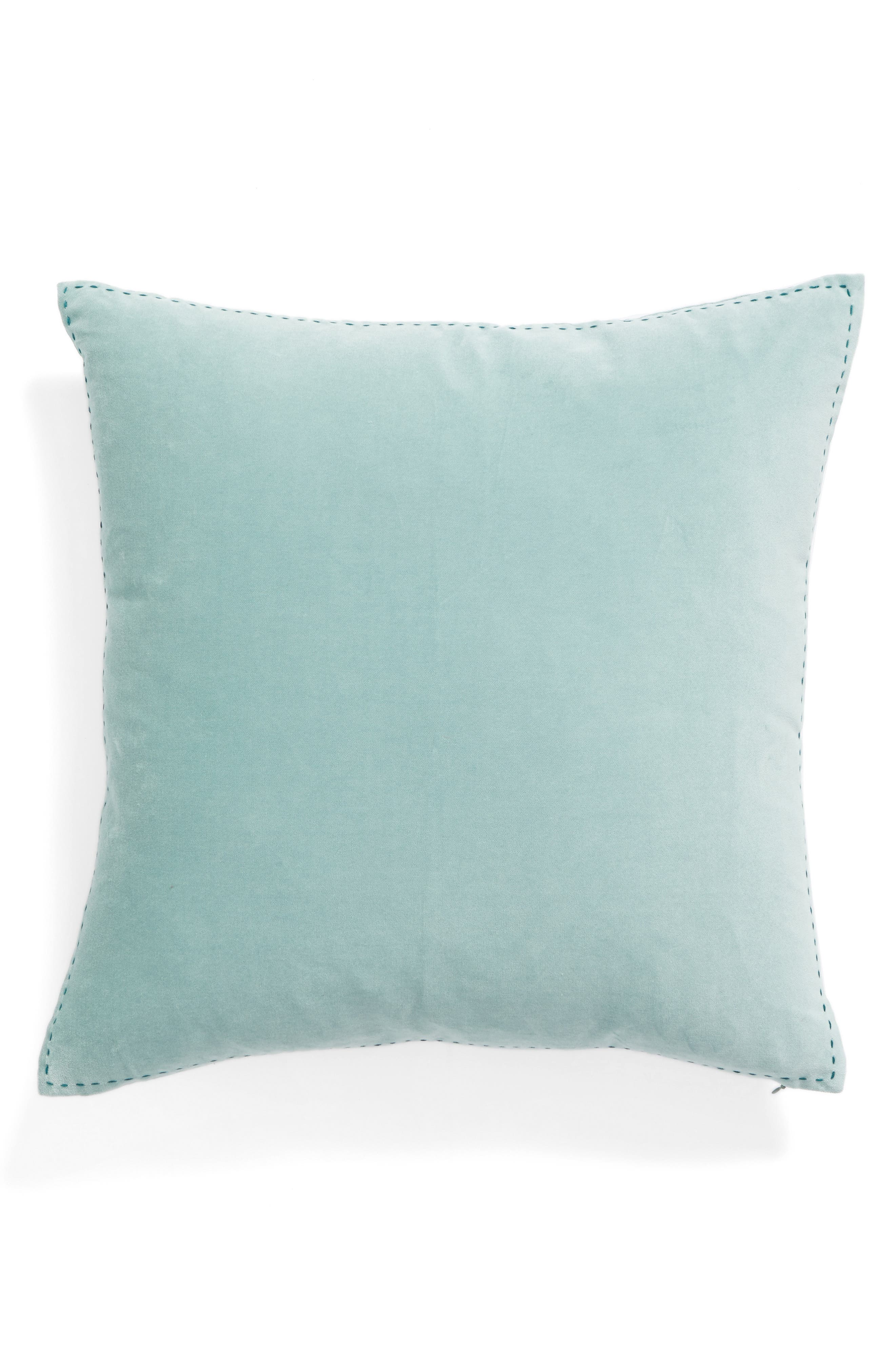 Main Image   Nordstrom At Home Ticking Border Accent Pillow