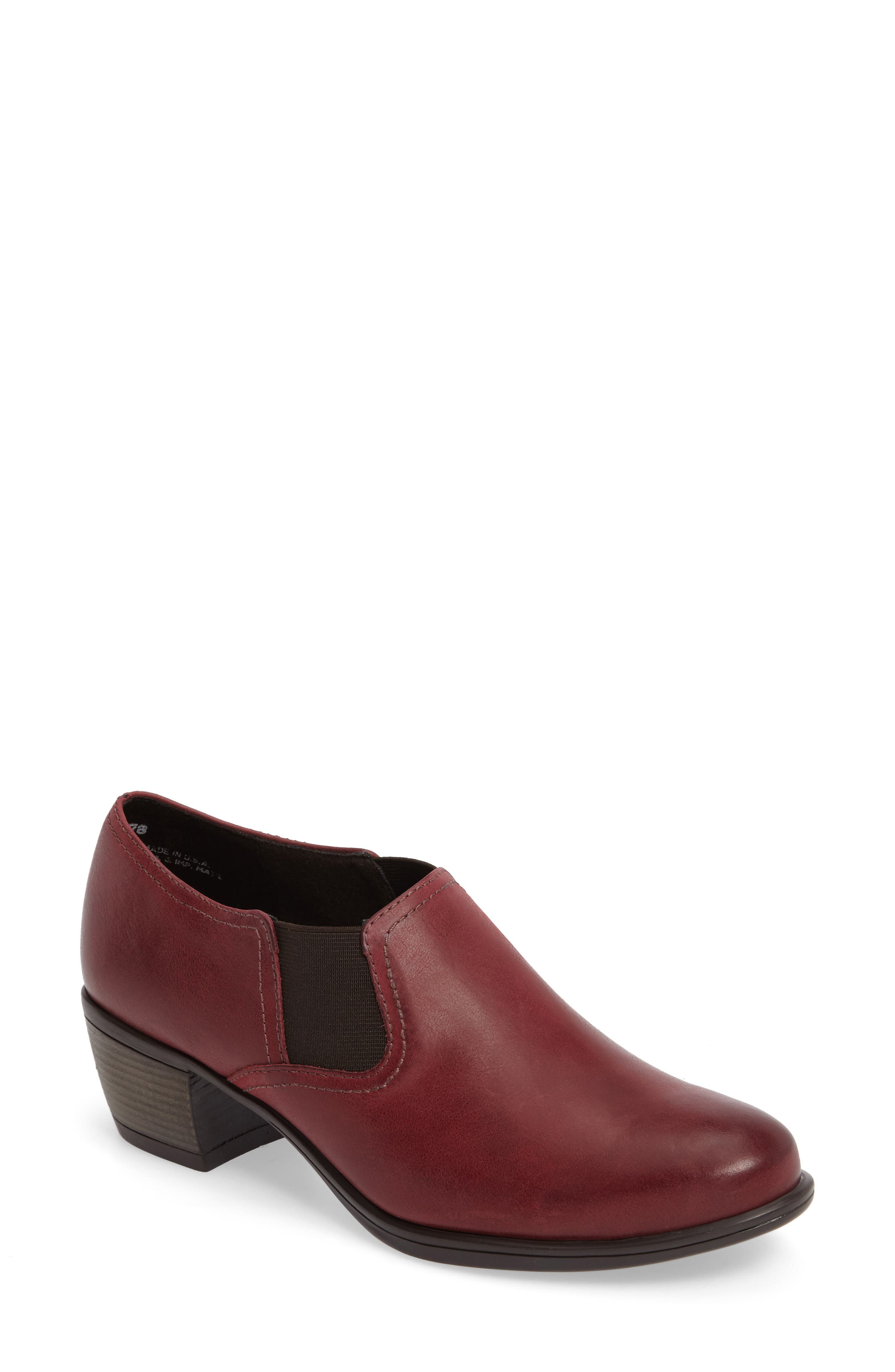Frisco Bootie,                         Main,                         color, Wine Leather
