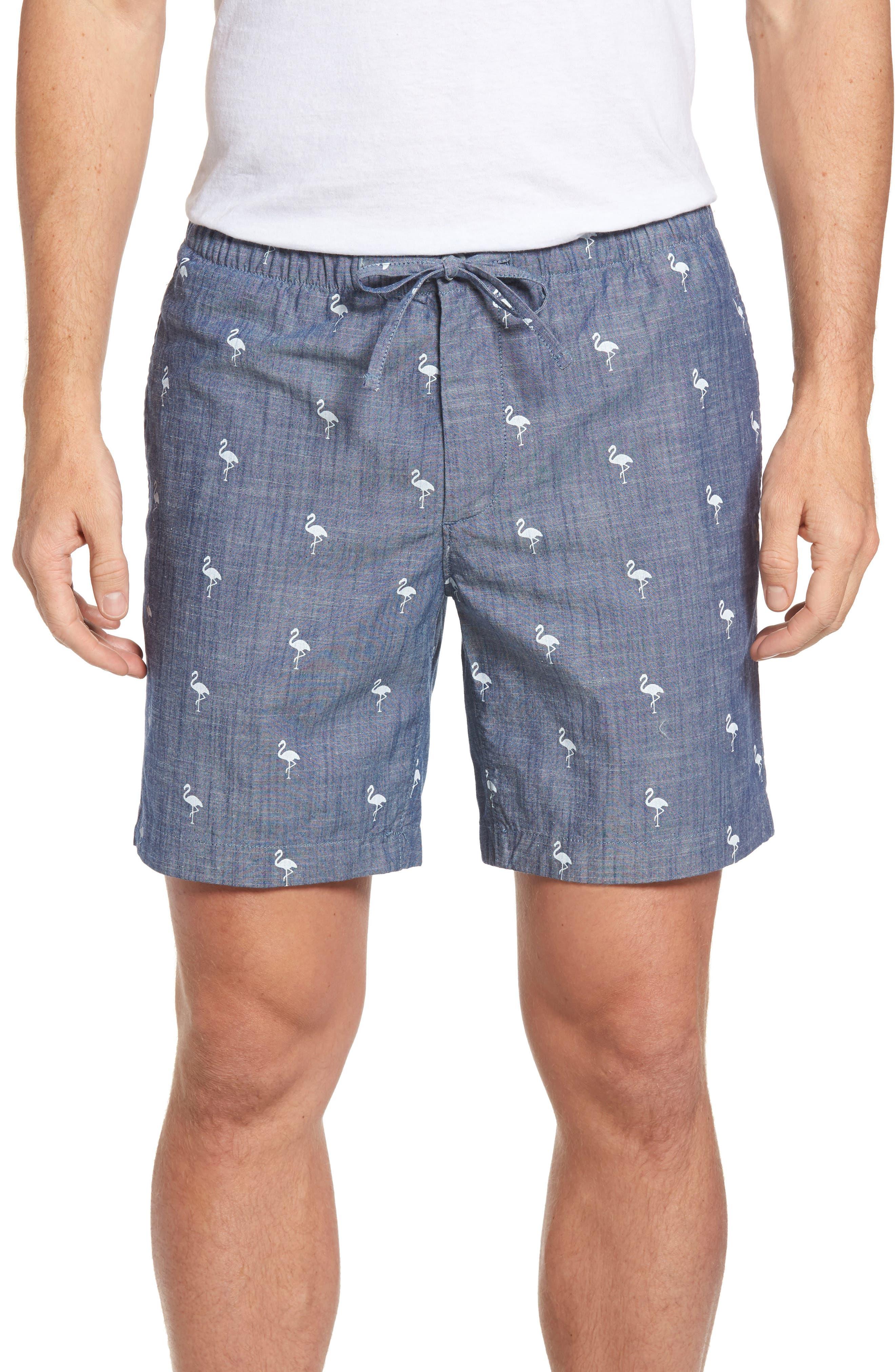 7-Inch Flamingo Shorts,                         Main,                         color, Flamingo Print