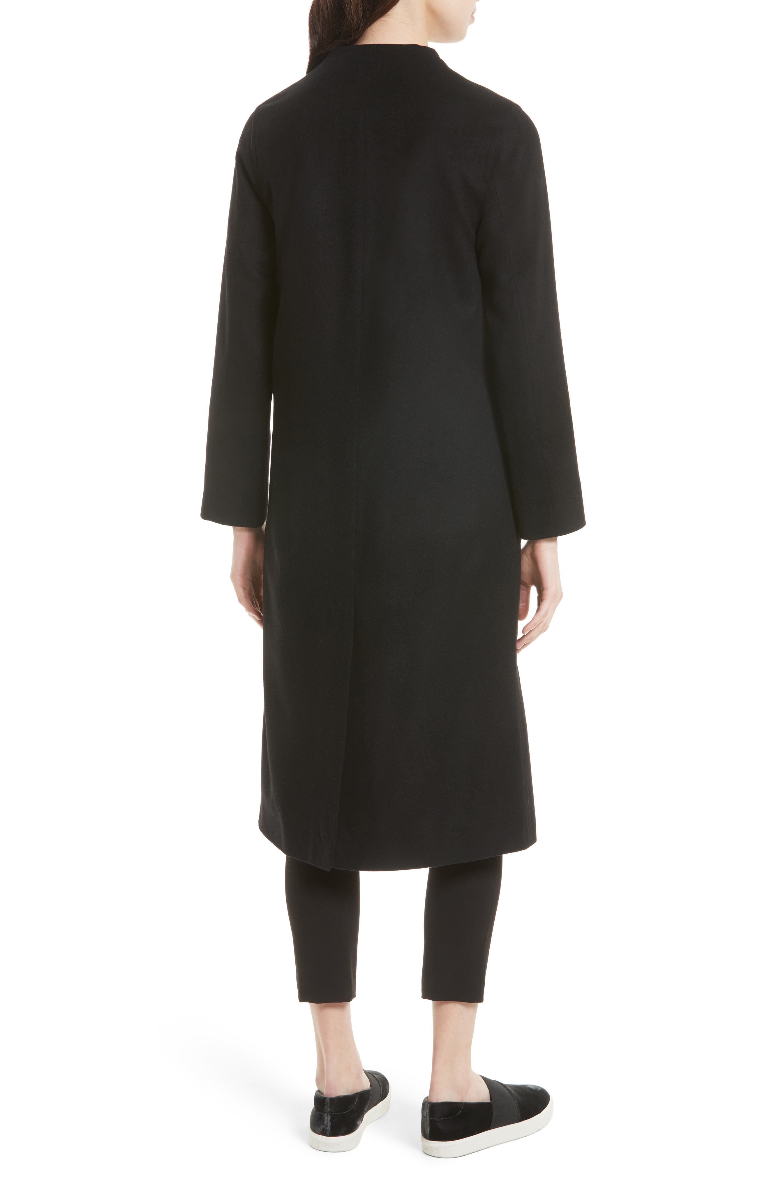 Alternate Image 2  - Helene Berman Wool & Cashmere Longline Coat