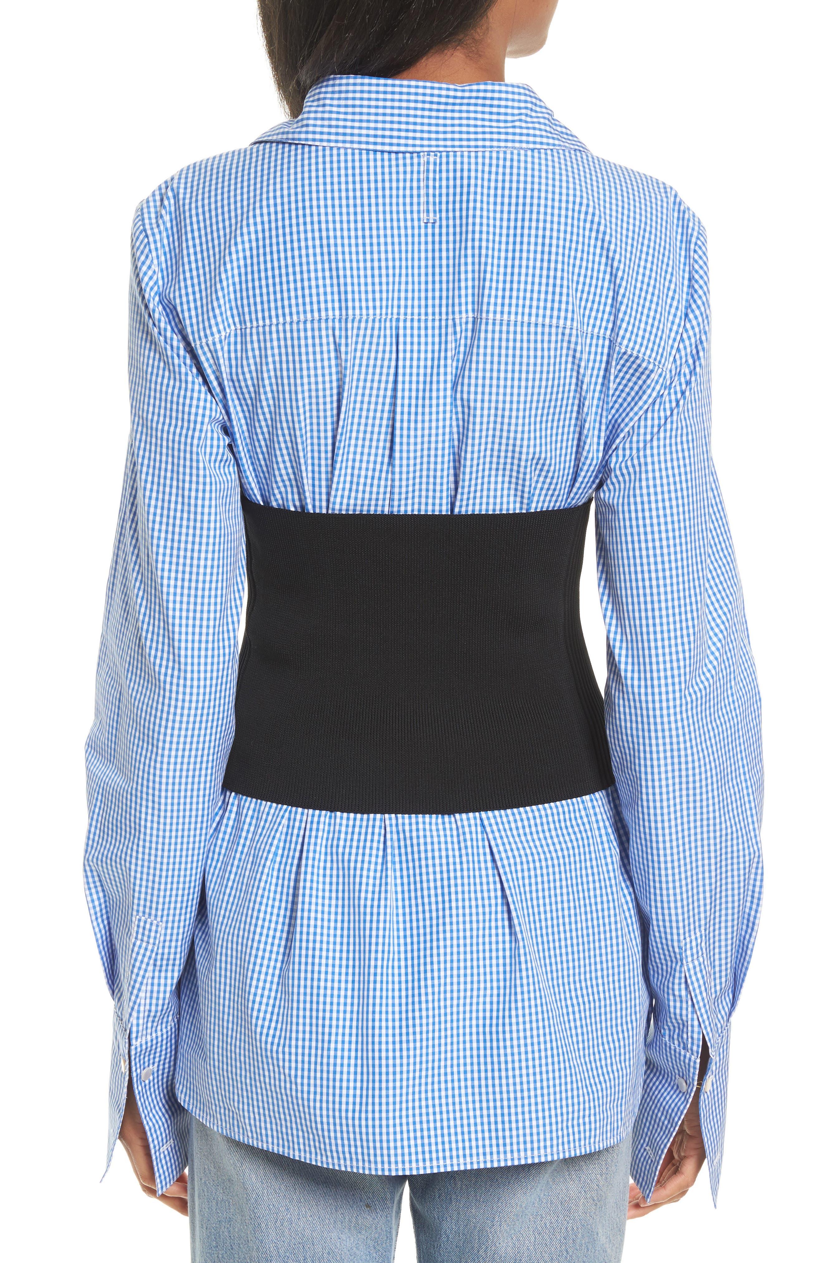 Rib Knit Tube Corset,                             Alternate thumbnail 2, color,                             Black