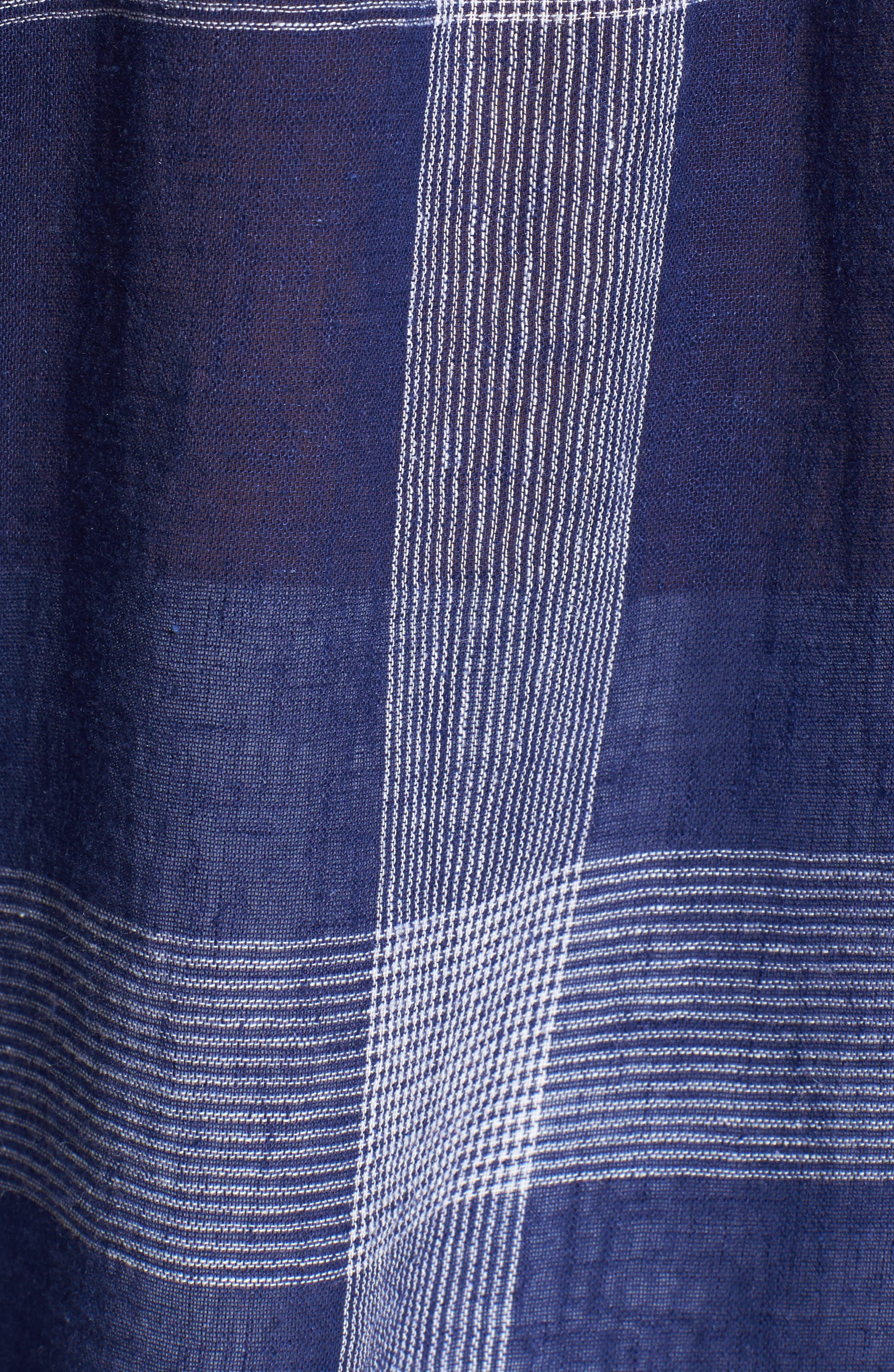 Charli Plaid Shirt,                             Alternate thumbnail 5, color,                             Patriot/ White