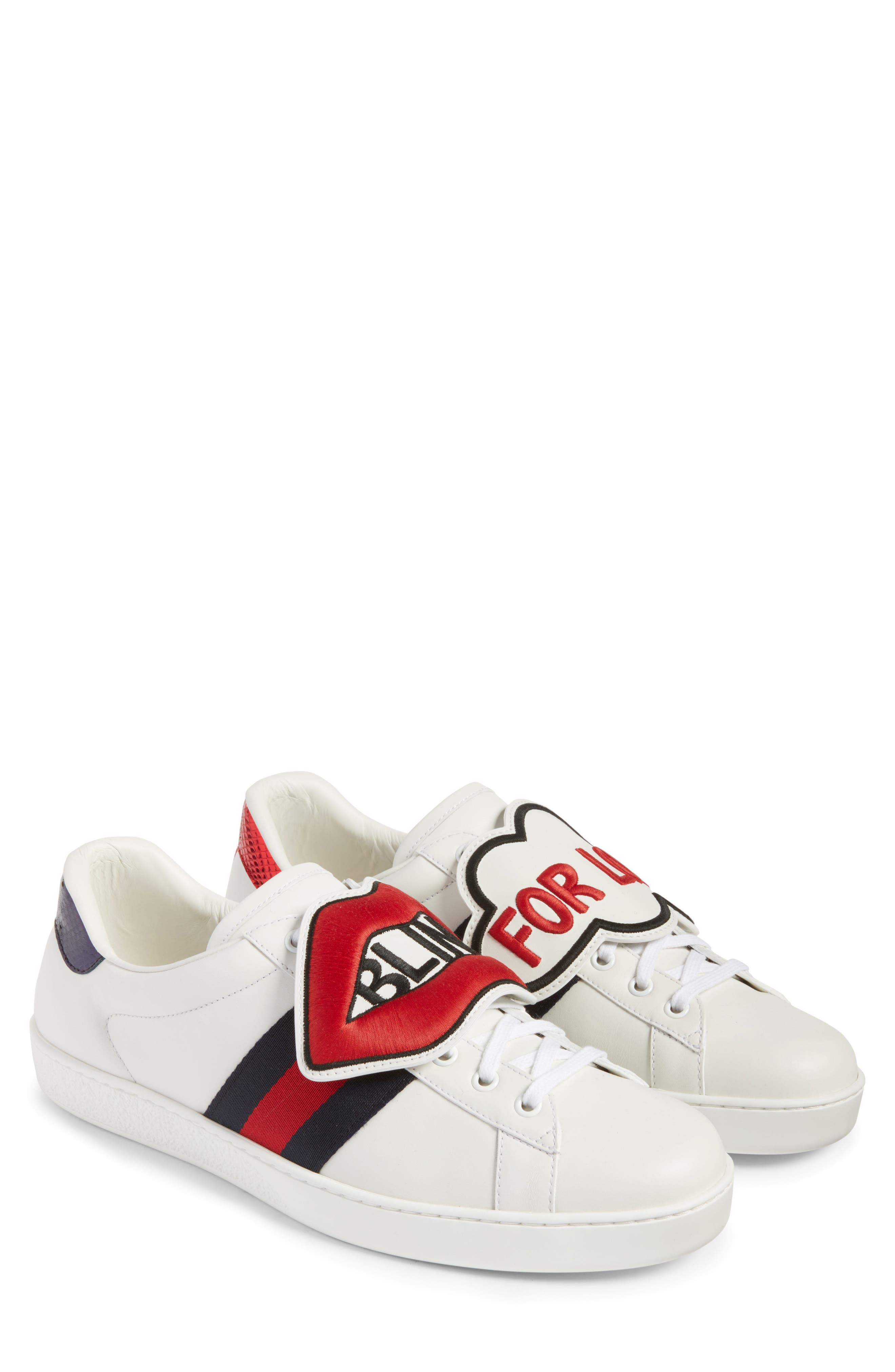 Gucci New Ace Embroidered Patch Sneaker (Men)