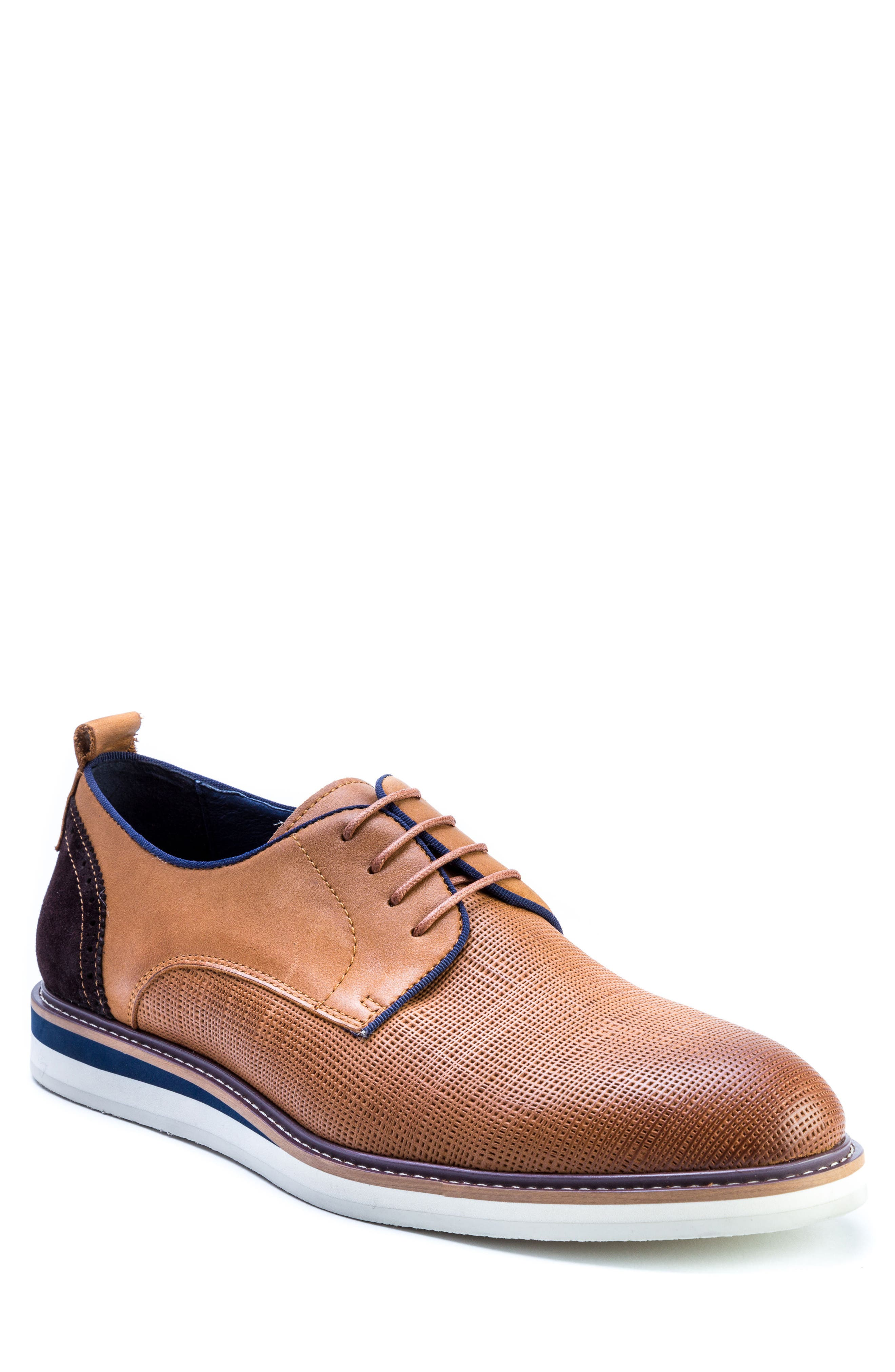 Homer Plain Toe Derby,                         Main,                         color, Brown Suede