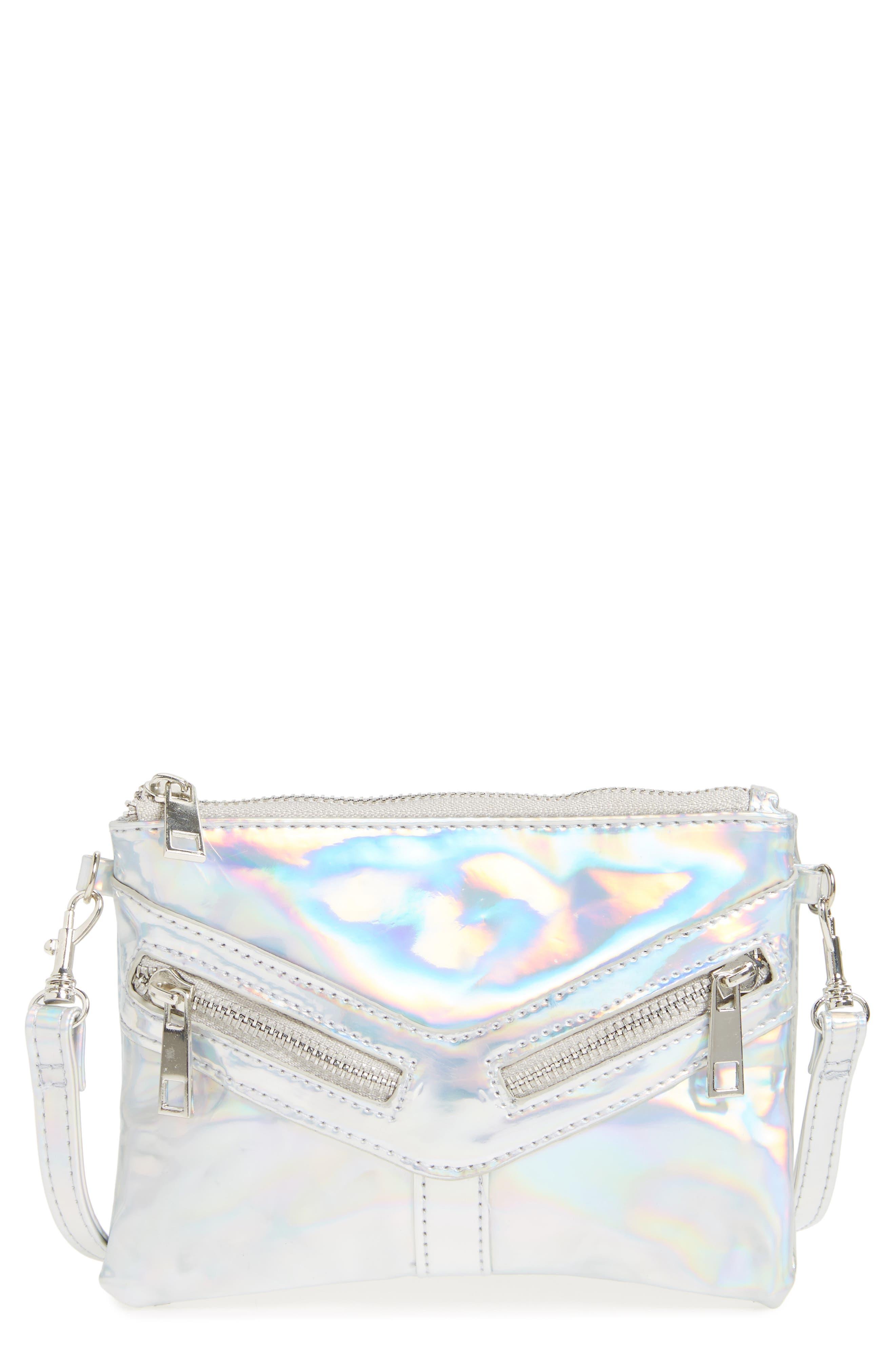 CAPELLI OF NEW YORK Hologram Crossbody Bag