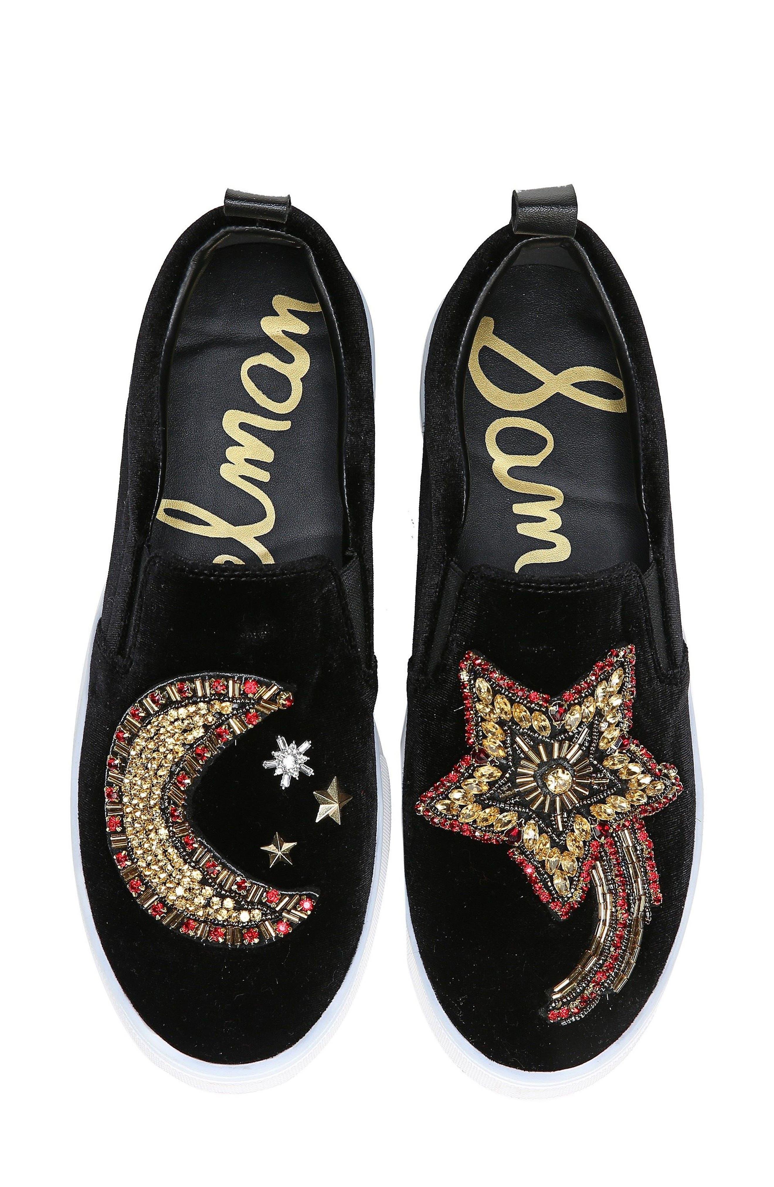 Alternate Image 1 Selected - Sam Edelman Leila Embellished Platform Sneaker (Women)