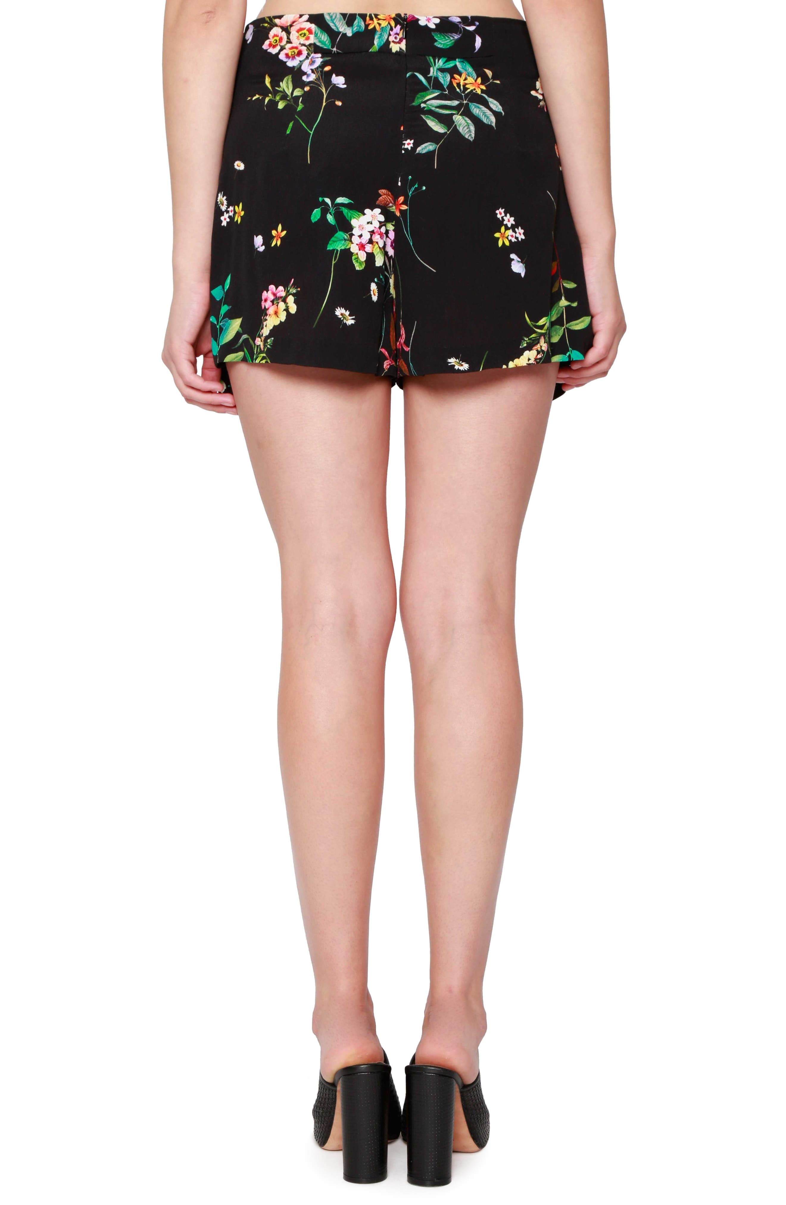 Alternate Image 2  - Willow & Clay Floral Print Sailor Shorts