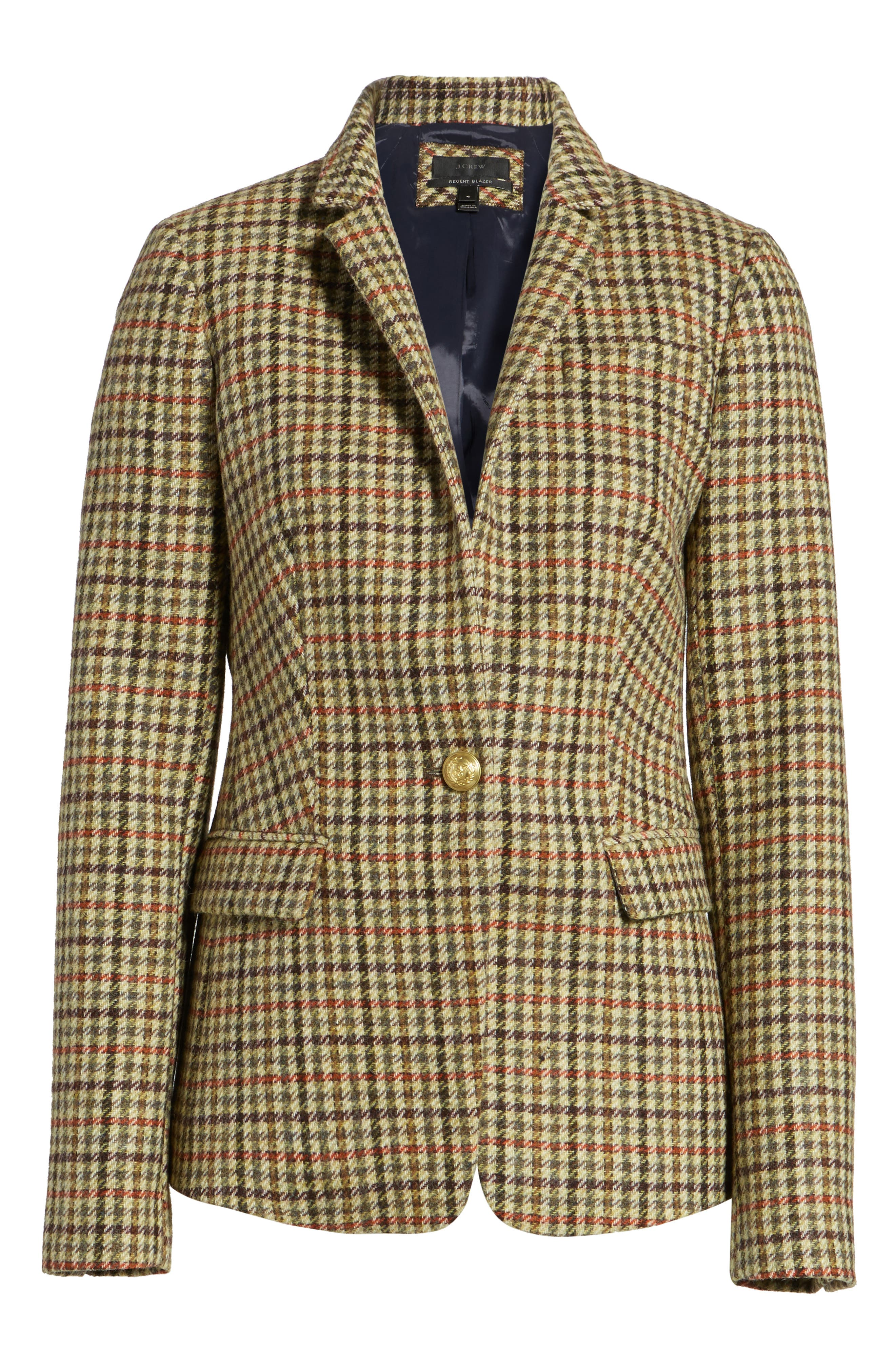 Alternate Image 7  - J.Crew Regent Houndstooth Plaid Blazer (Regular & Petite)