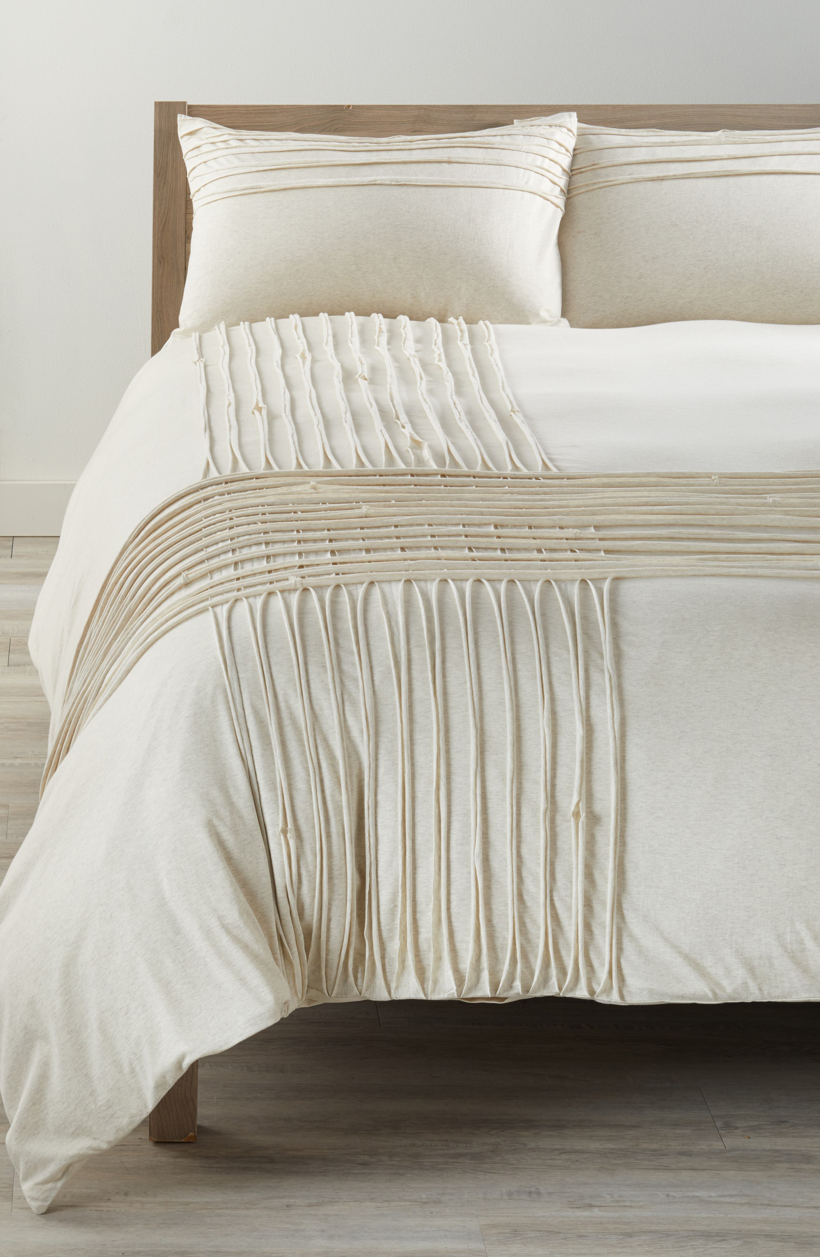 Nordstrom at Home Jersey Grid Duvet Cover