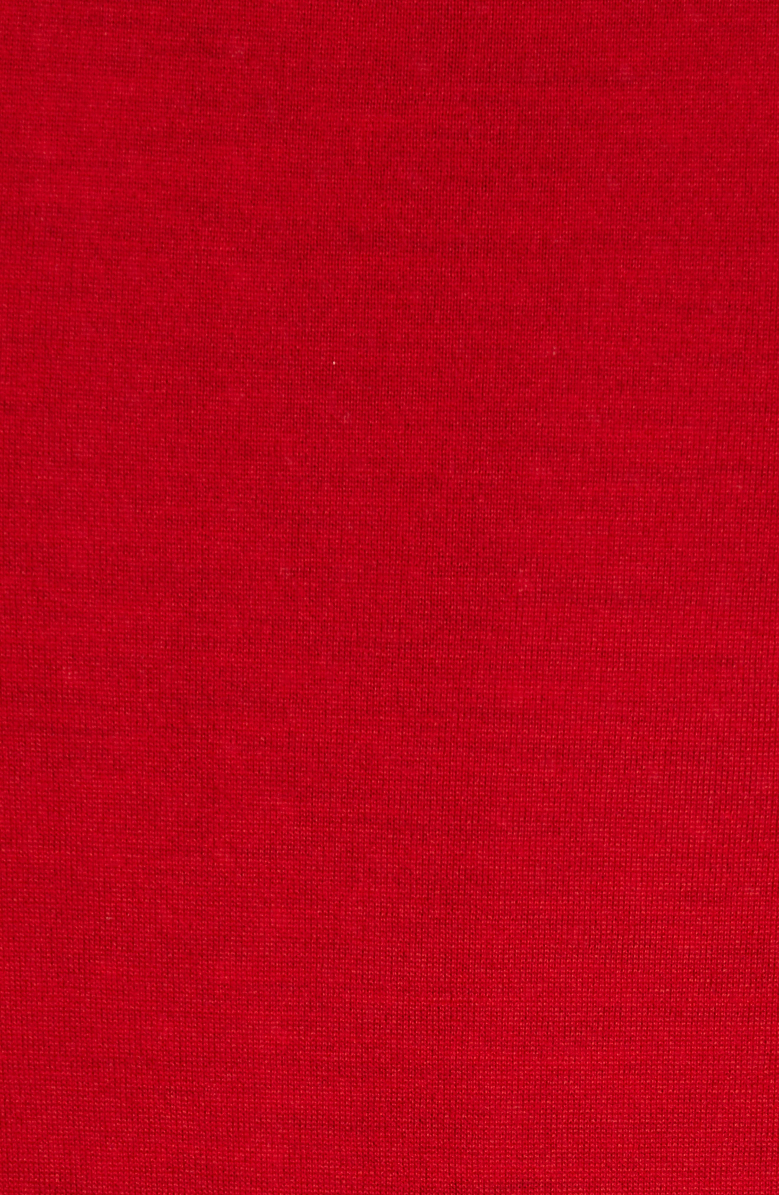 Merino Wool Cardigan,                             Alternate thumbnail 5, color,                             Red