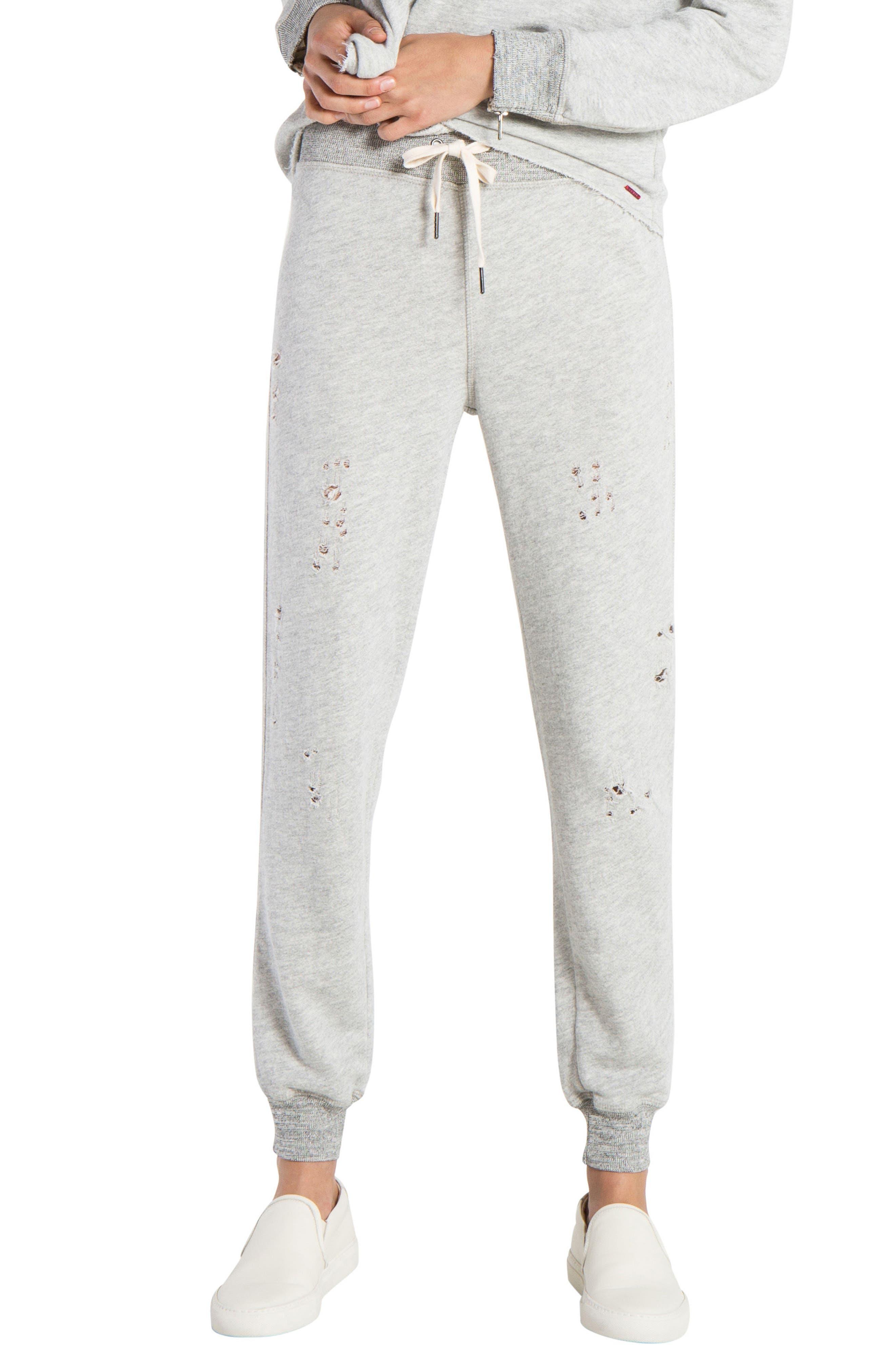 n: PHILANTHROPY Nikki Distressed Sweatpants,                         Main,                         color, Heather Grey