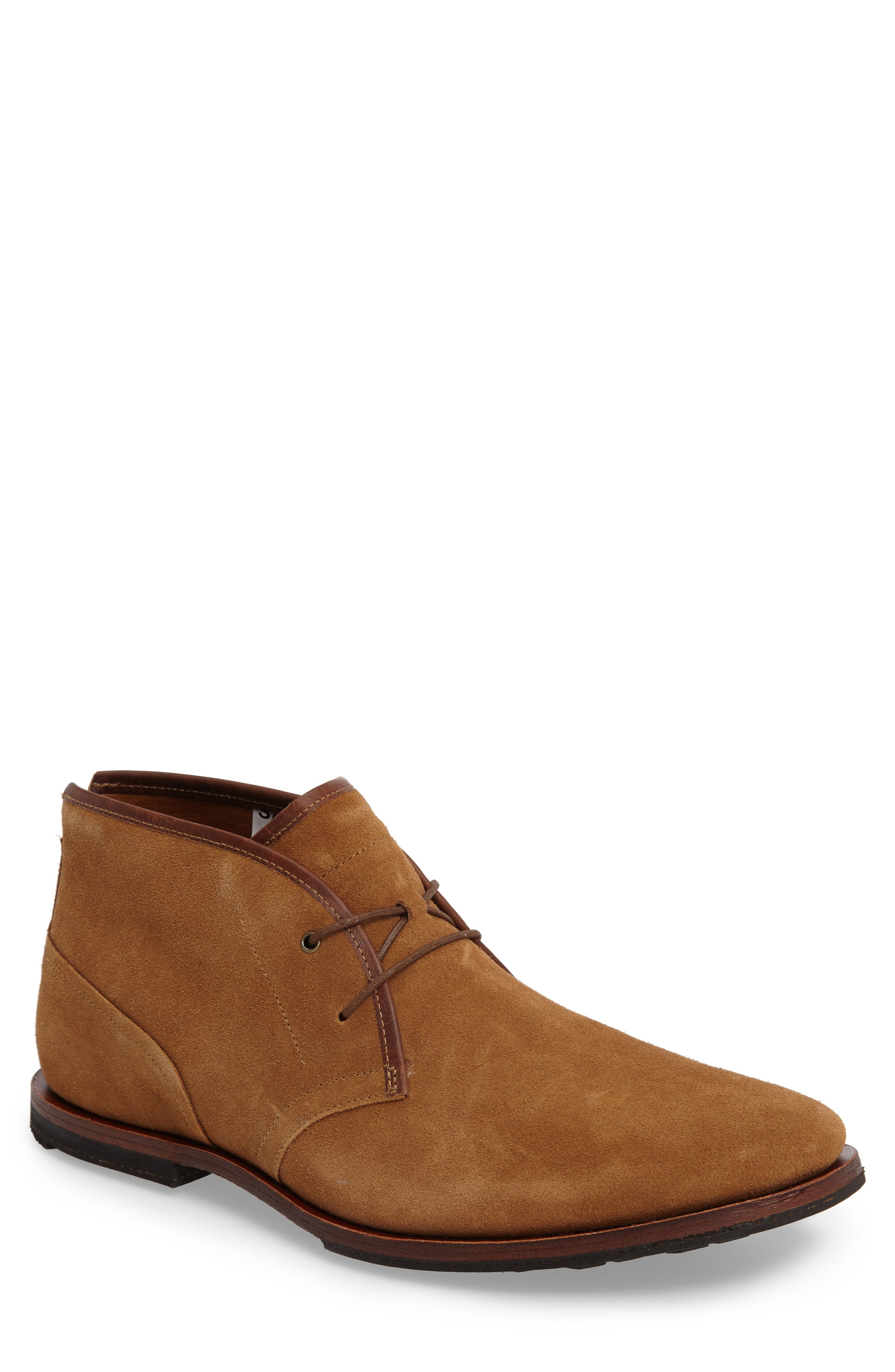 Wodehouse Lost History Chukka Boot,                             Main thumbnail 1, color,                             Rust Suede