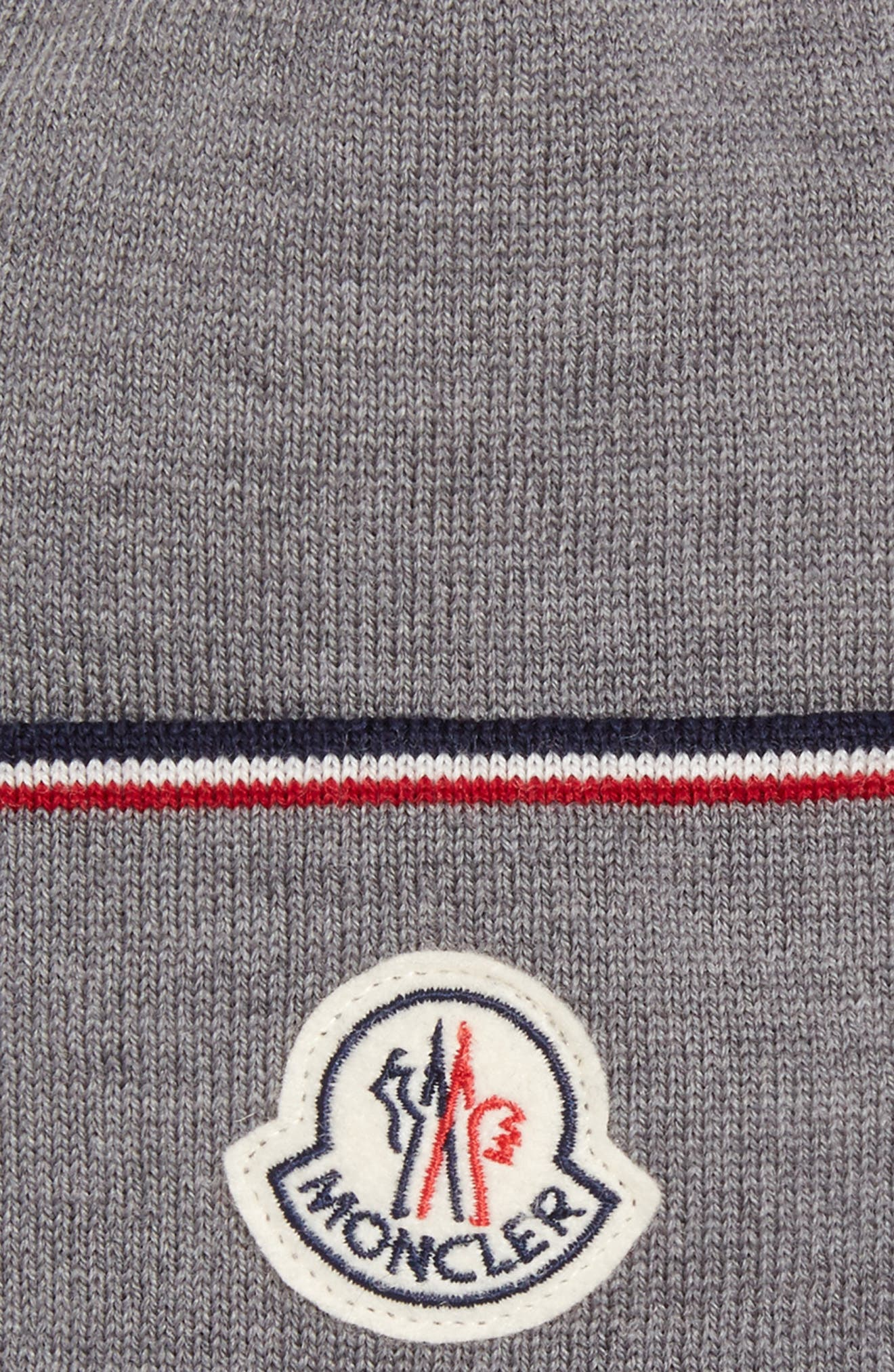 Alternate Image 2  - Moncler Logo Patch Wool Beanie