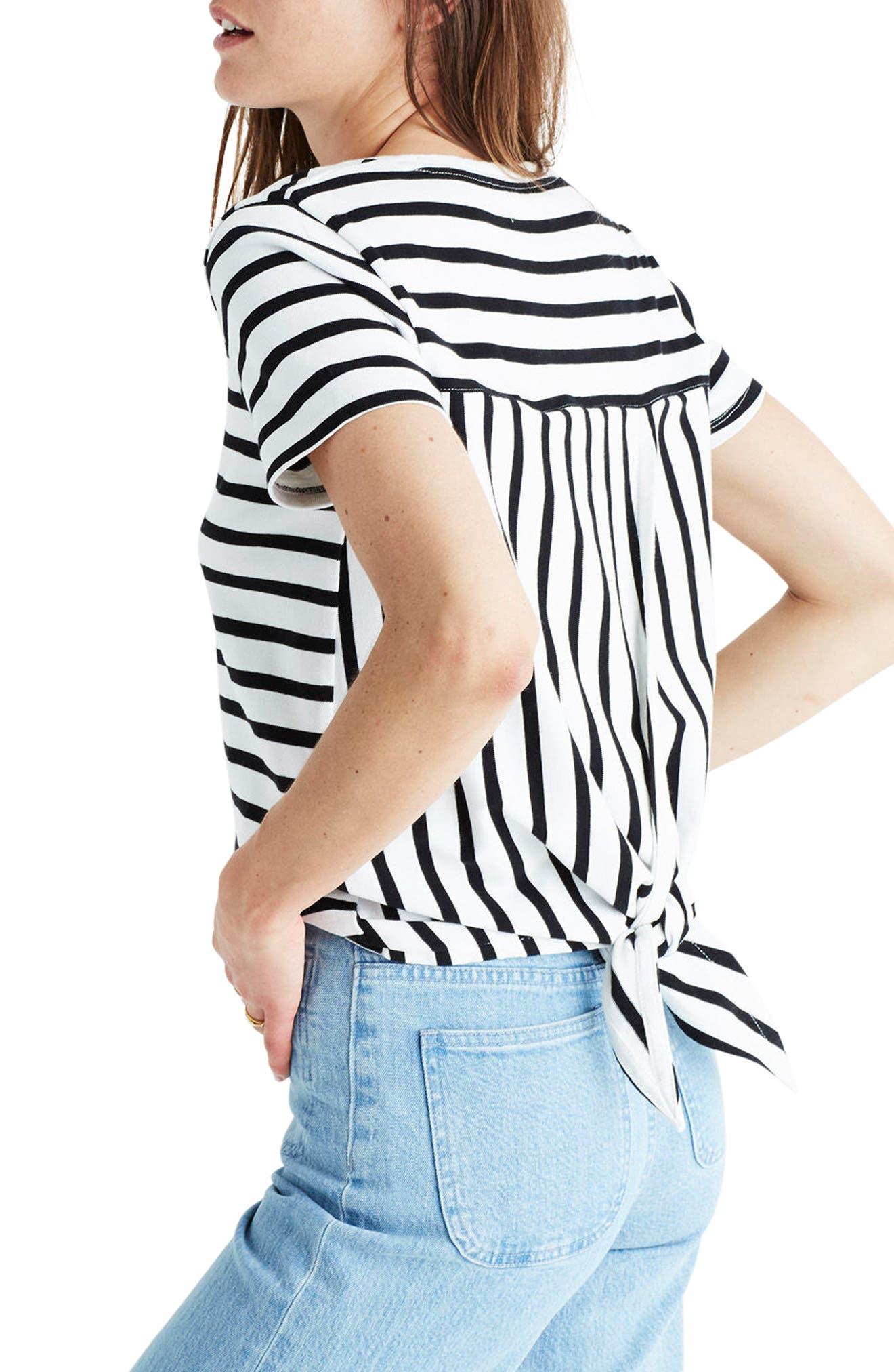 Alternate Image 2  - Madewell Stripe Tie Back Tee