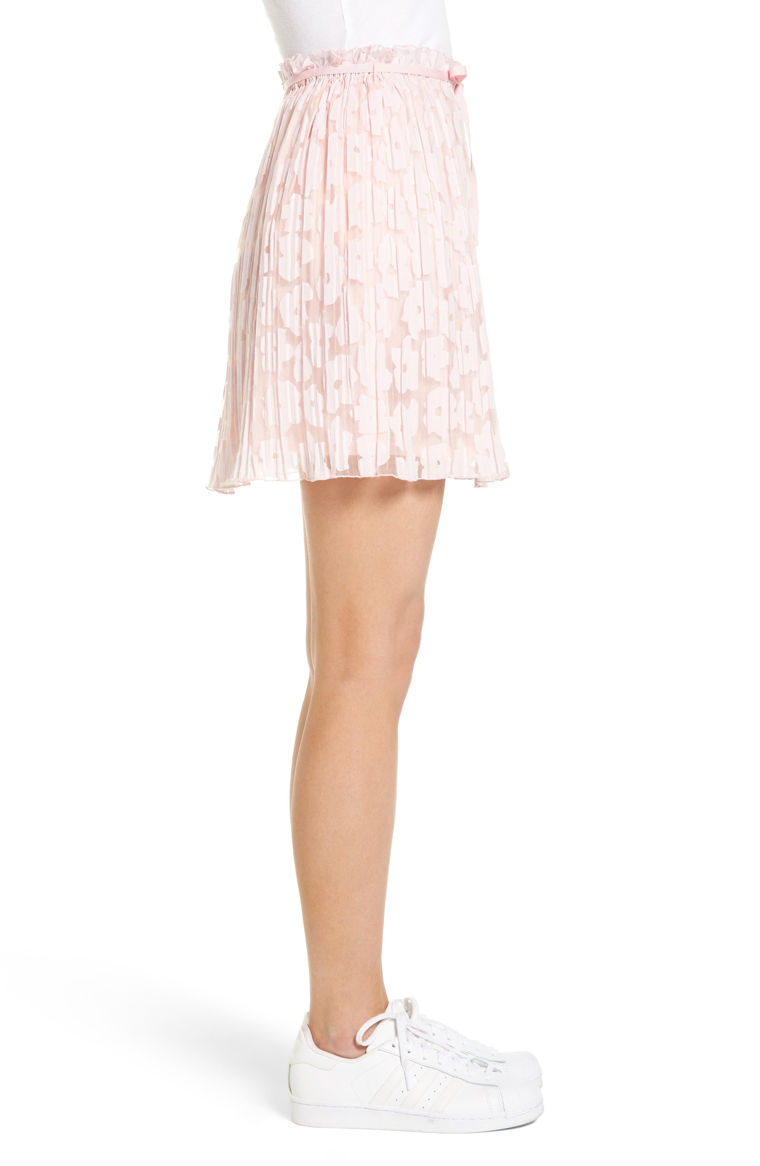 Karlie Burnout Skirt,                             Alternate thumbnail 3, color,                             Rose Pale