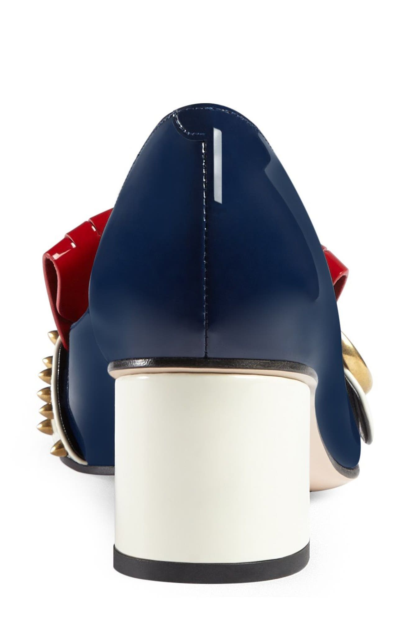 Marmont Pump,                             Alternate thumbnail 3, color,                             Navy/ Red/ White