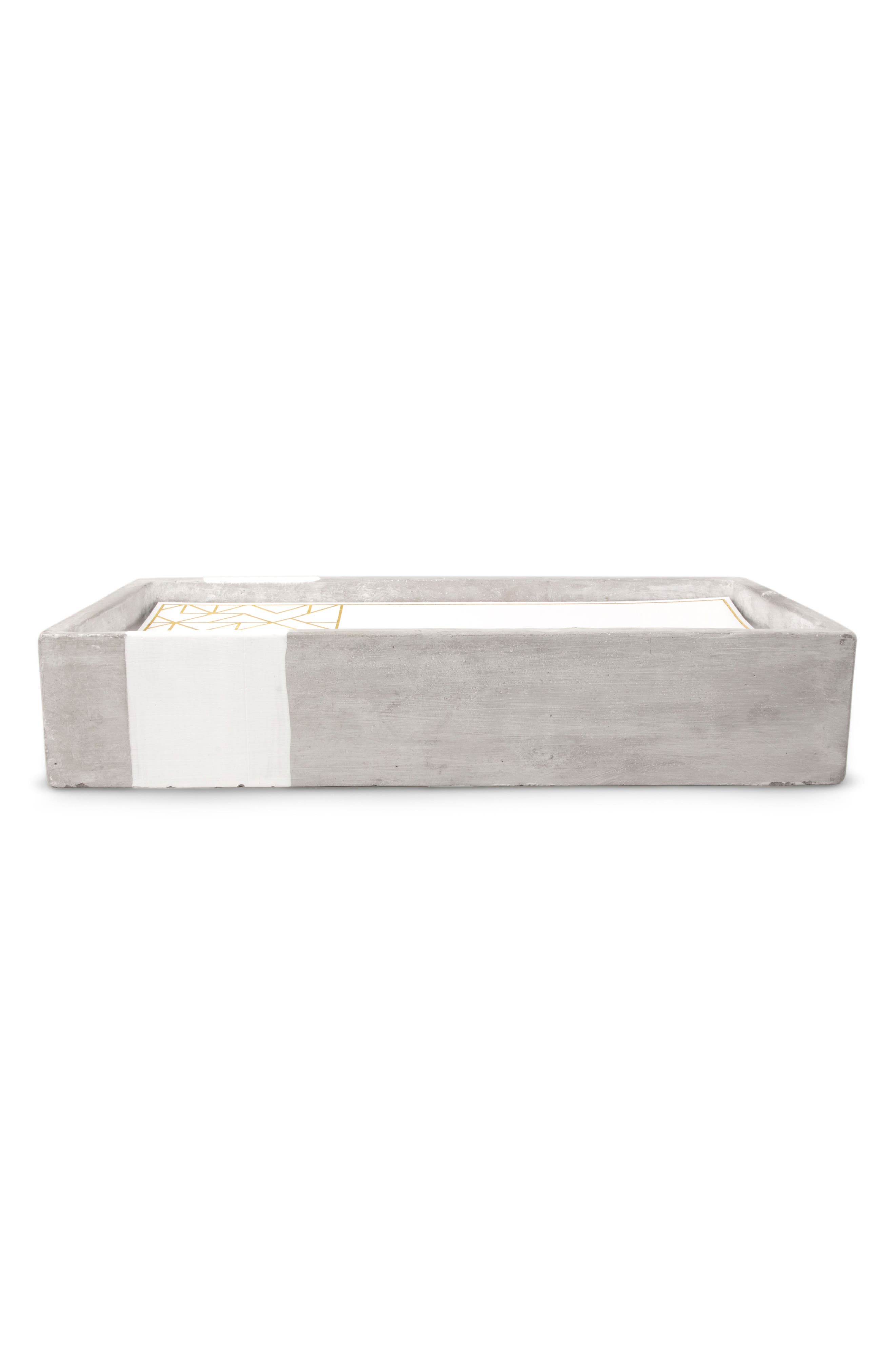 Urban Concrete Soy Wax Candle,                             Alternate thumbnail 2, color,                             Tabacco And Patchouli