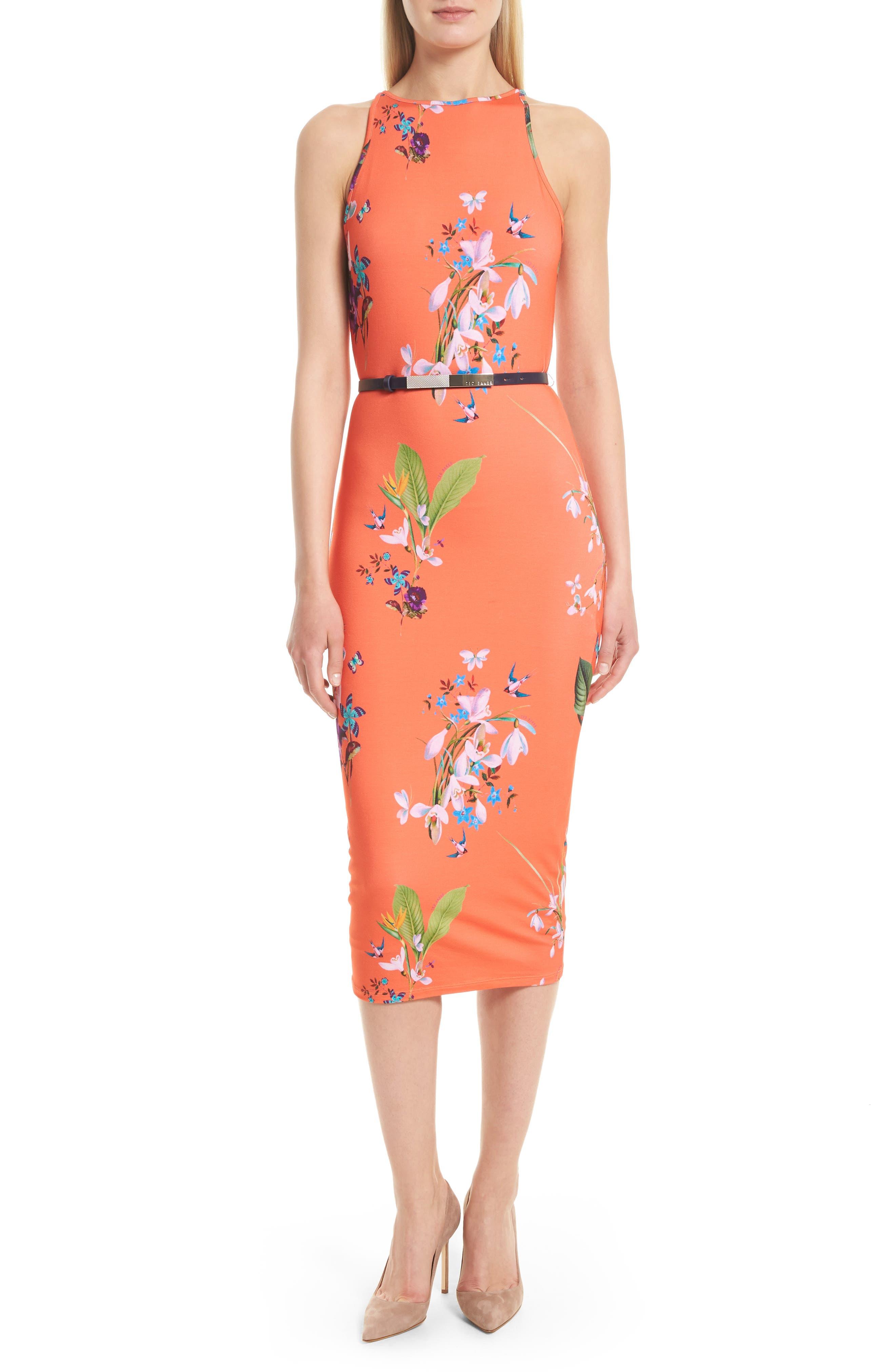 Ted Baker London Joelia Tropical Oasis Body-Con Dress