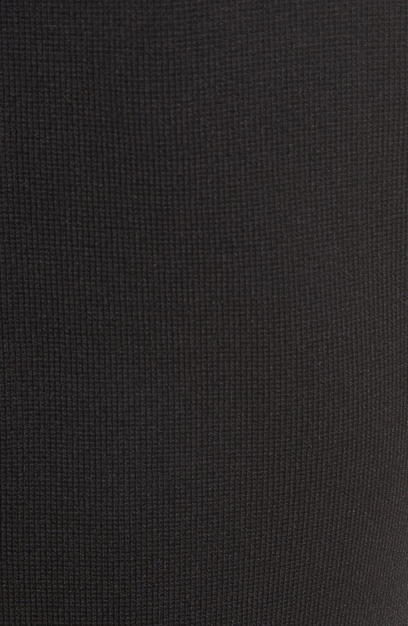 Texture Knit Fit & Flare Dress,                             Alternate thumbnail 5, color,                             Black