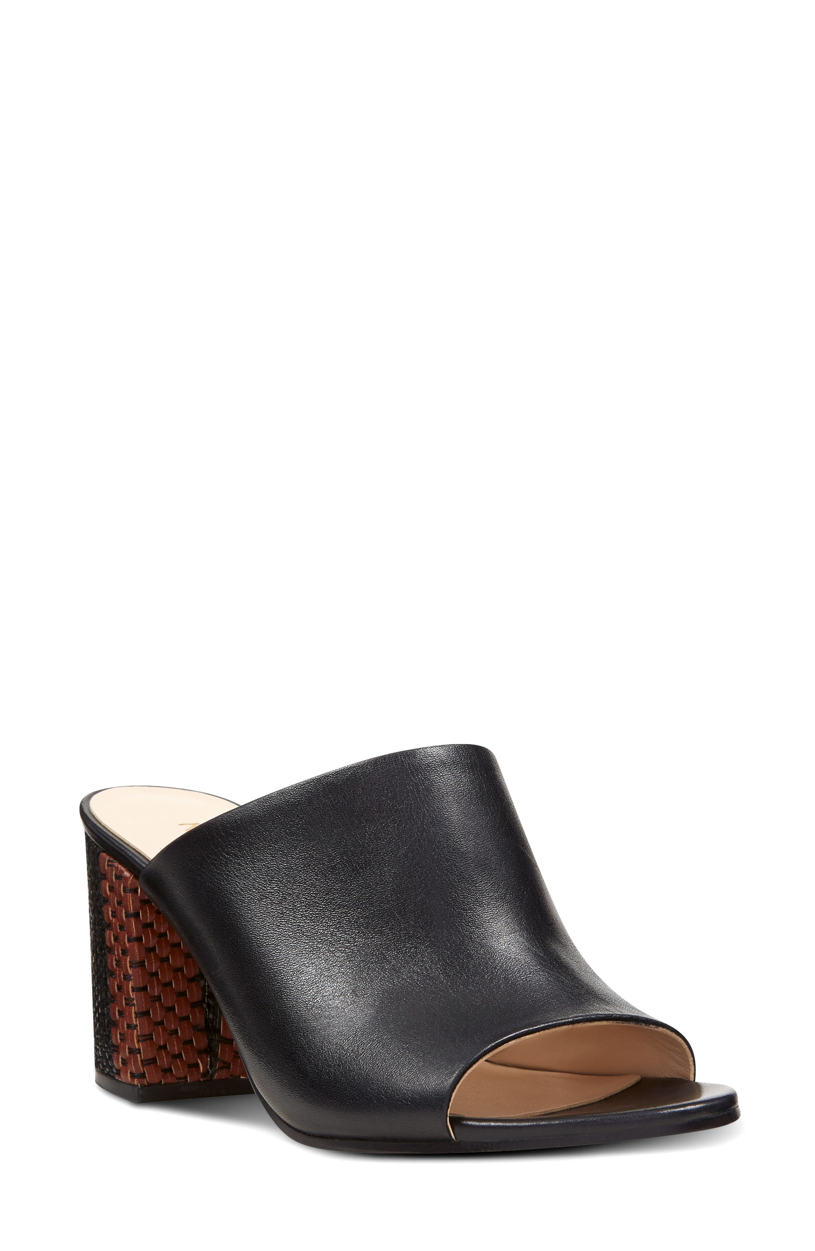 Alternate Image 1 Selected - Nine West Gemily Block Heel Slide Sandal (Women)