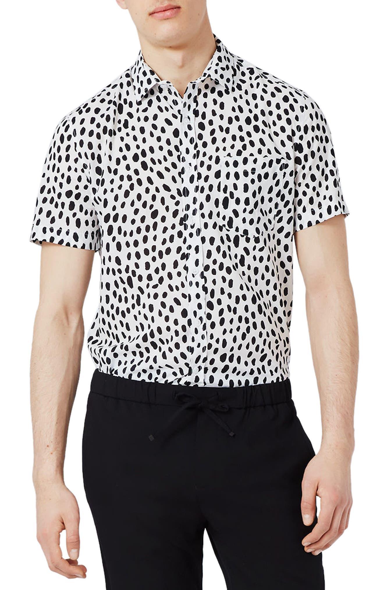 Topman Dotty Print Shirt