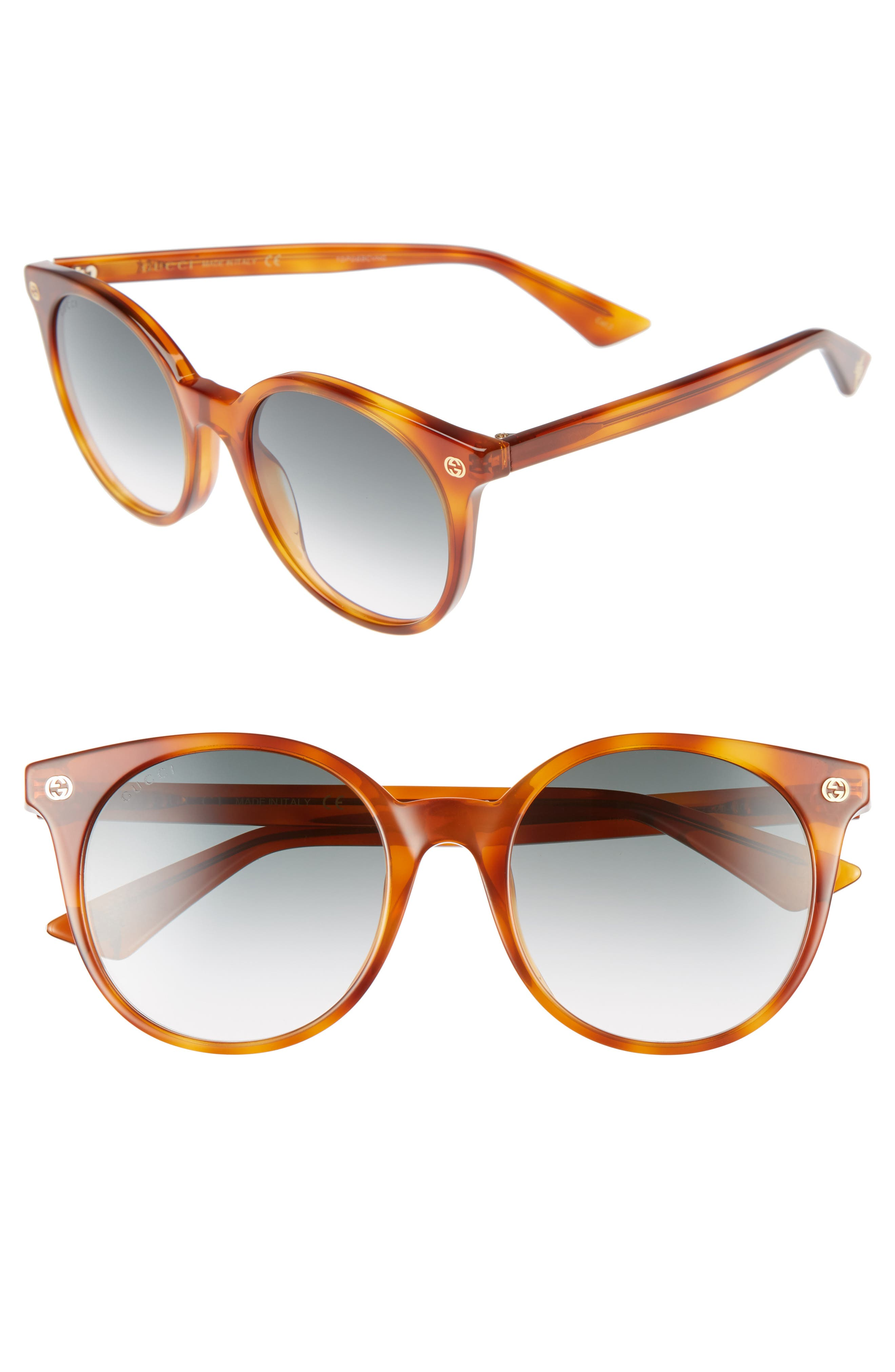 Alternate Image 1 Selected - Gucci 52mm Round Sunglasses