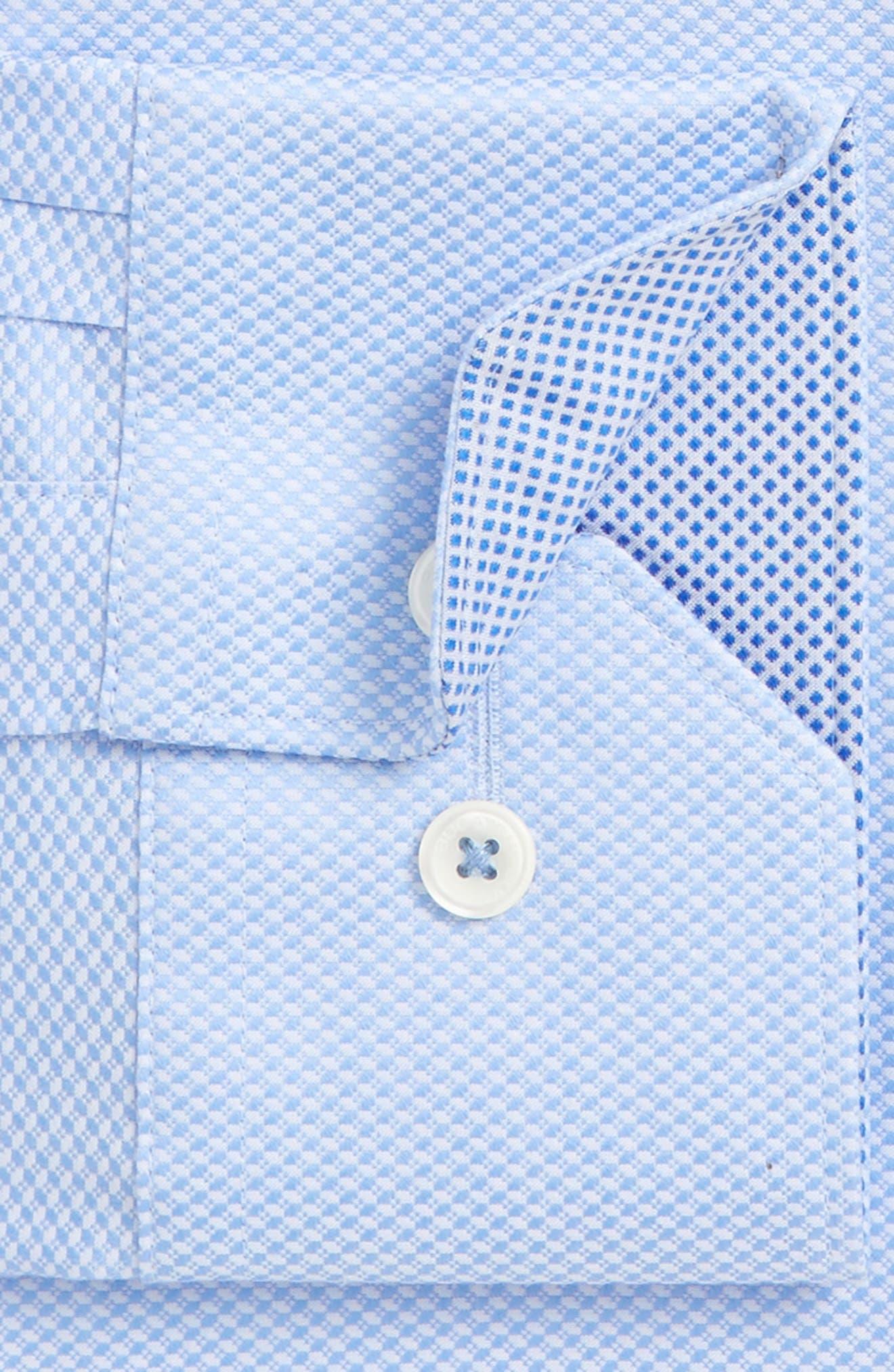Alternate Image 2  - Bugatchi Trim Fit Solid Dress Shirt
