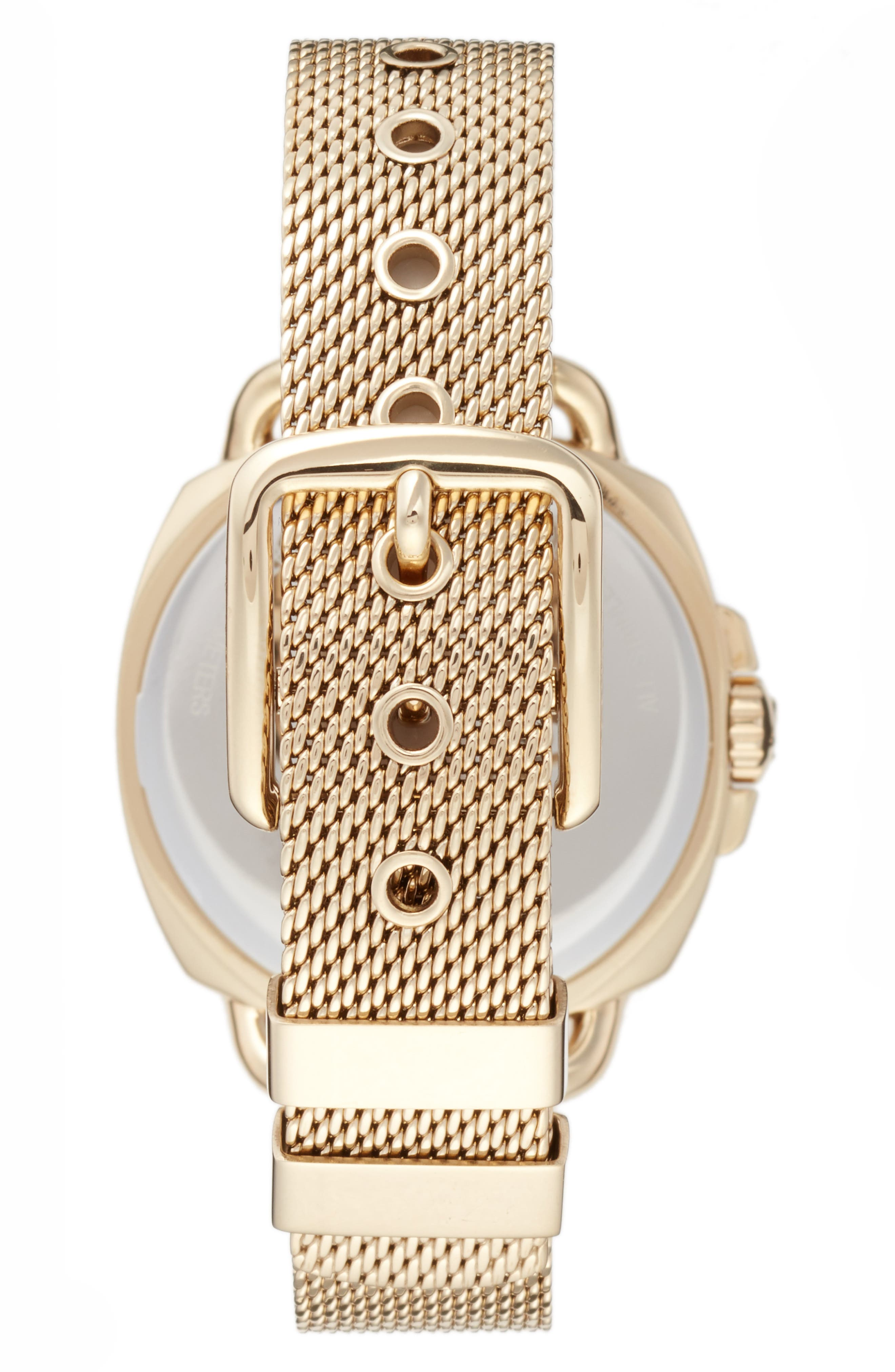 Tatum Crystal Mesh Strap Watch, 35mm,                             Alternate thumbnail 2, color,                             Gold