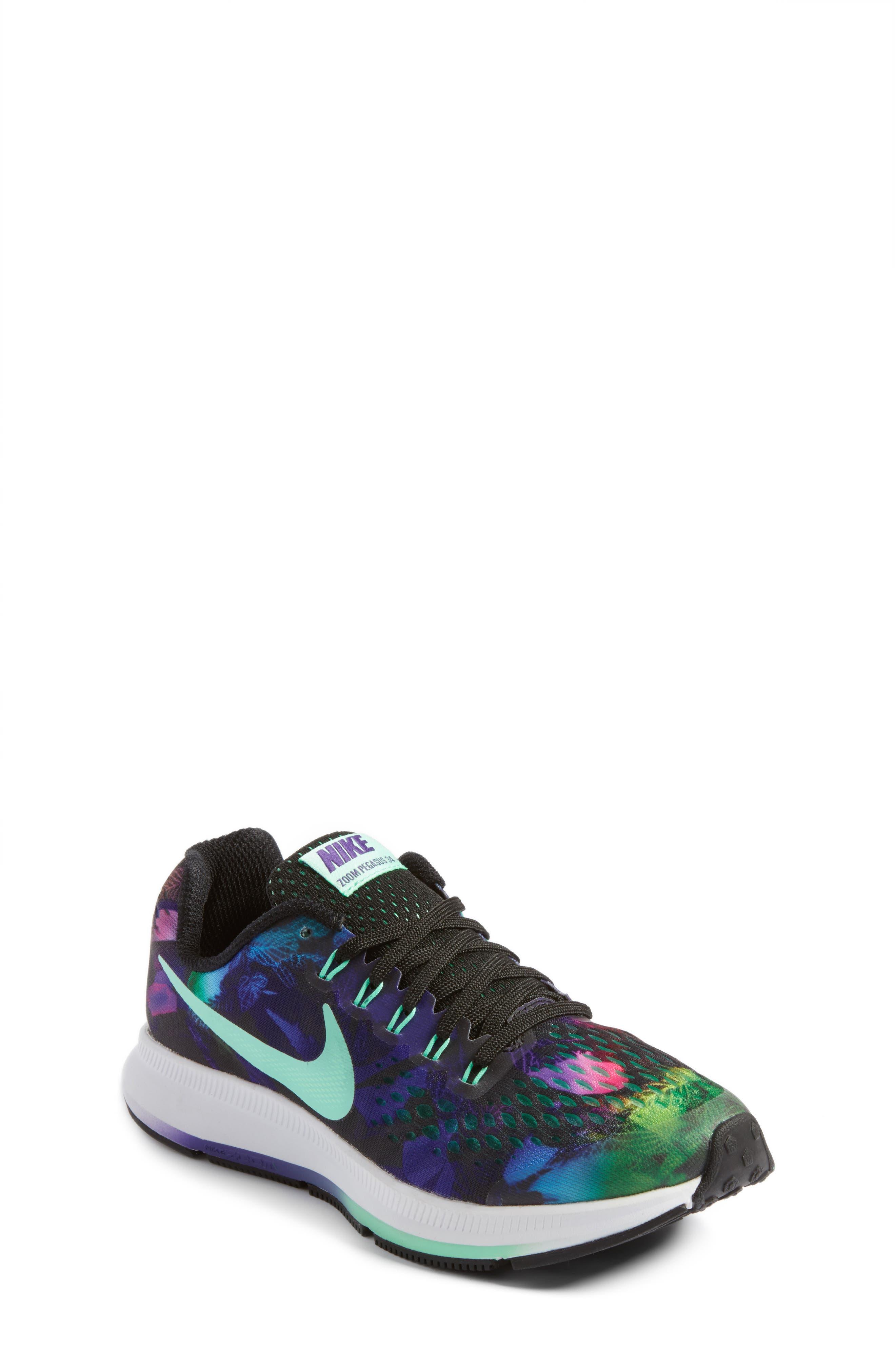 Main Image - Nike Zoom Pegasus 34 Print Sneaker (Little Kid & Big Kid)