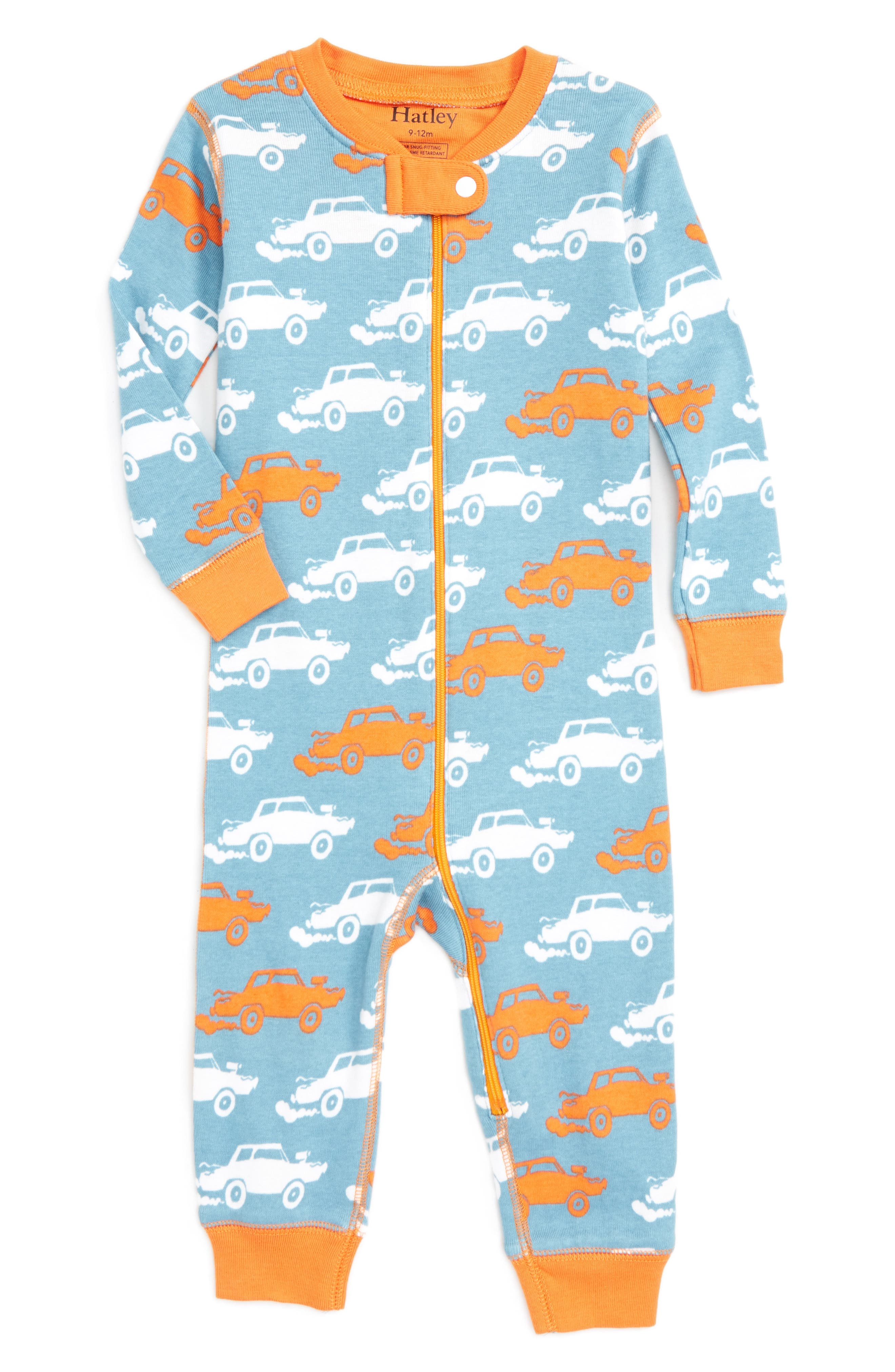 Hatley Print Fitted One-Piece Organic Cotton Pajamas (Baby)