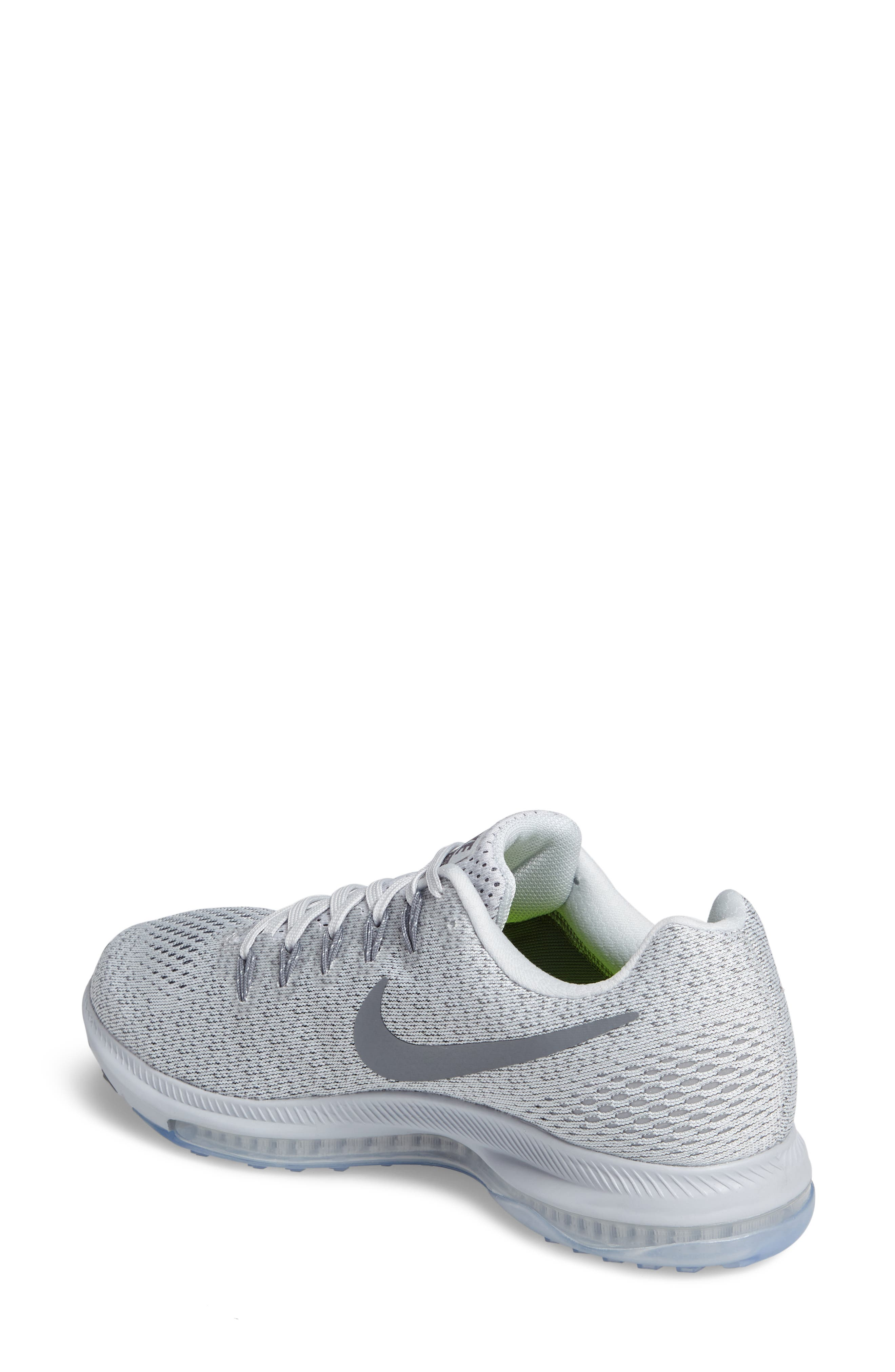 Air Zoom All Out Running Shoe,                             Alternate thumbnail 2, color,                             Platinum/ Cool Grey/ Wolf Grey